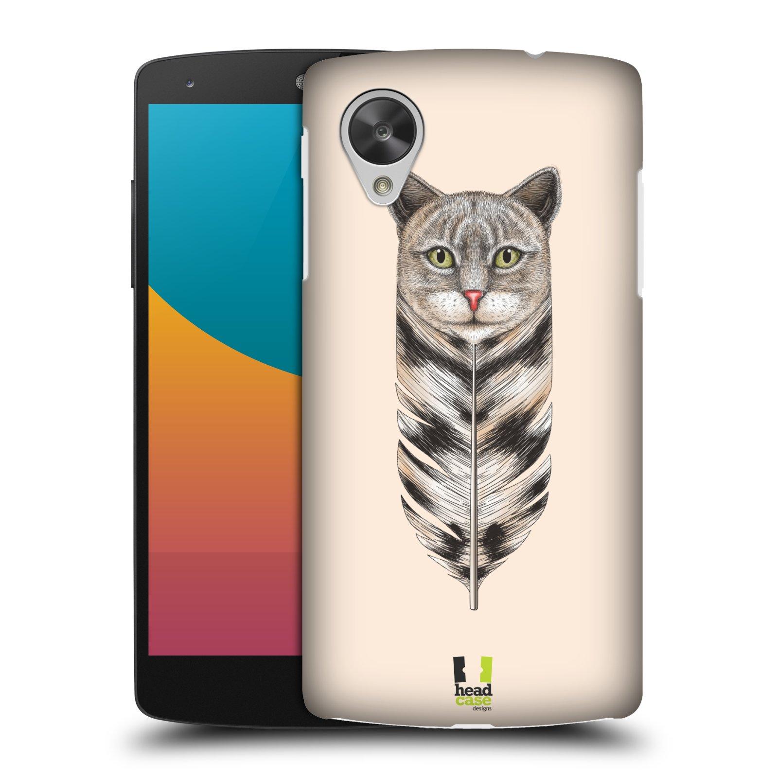 Plastové pouzdro na mobil LG Nexus 5 HEAD CASE PÍRKO KOČKA (Kryt či obal na mobilní telefon LG Google Nexus 5 D821)