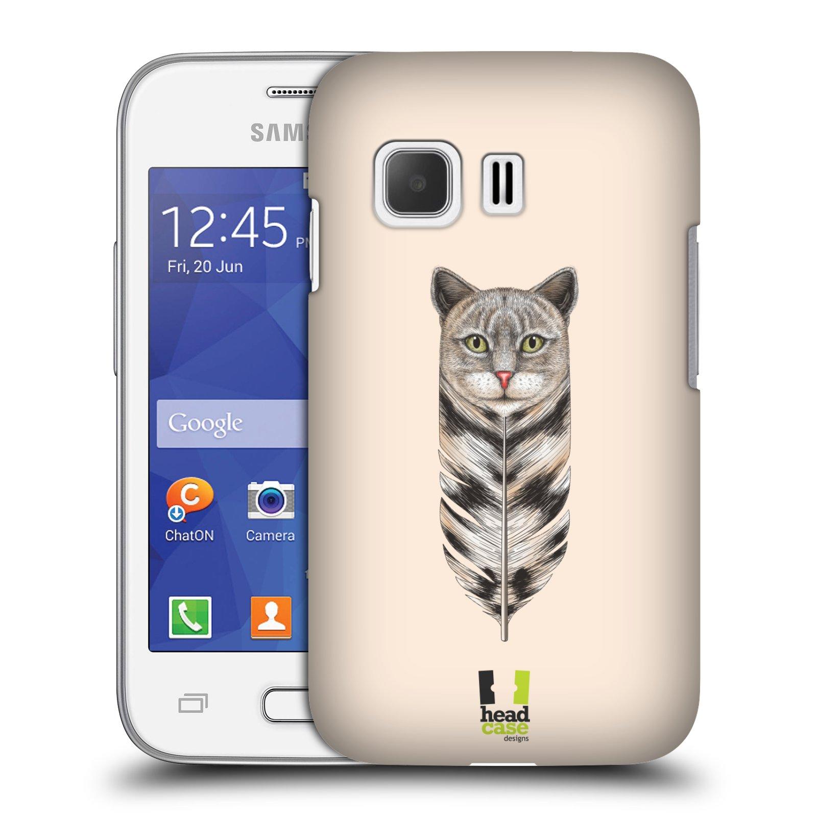 Plastové pouzdro na mobil Samsung Galaxy Young 2 HEAD CASE PÍRKO KOČKA (Kryt či obal na mobilní telefon Samsung Galaxy Young 2 SM-G130)