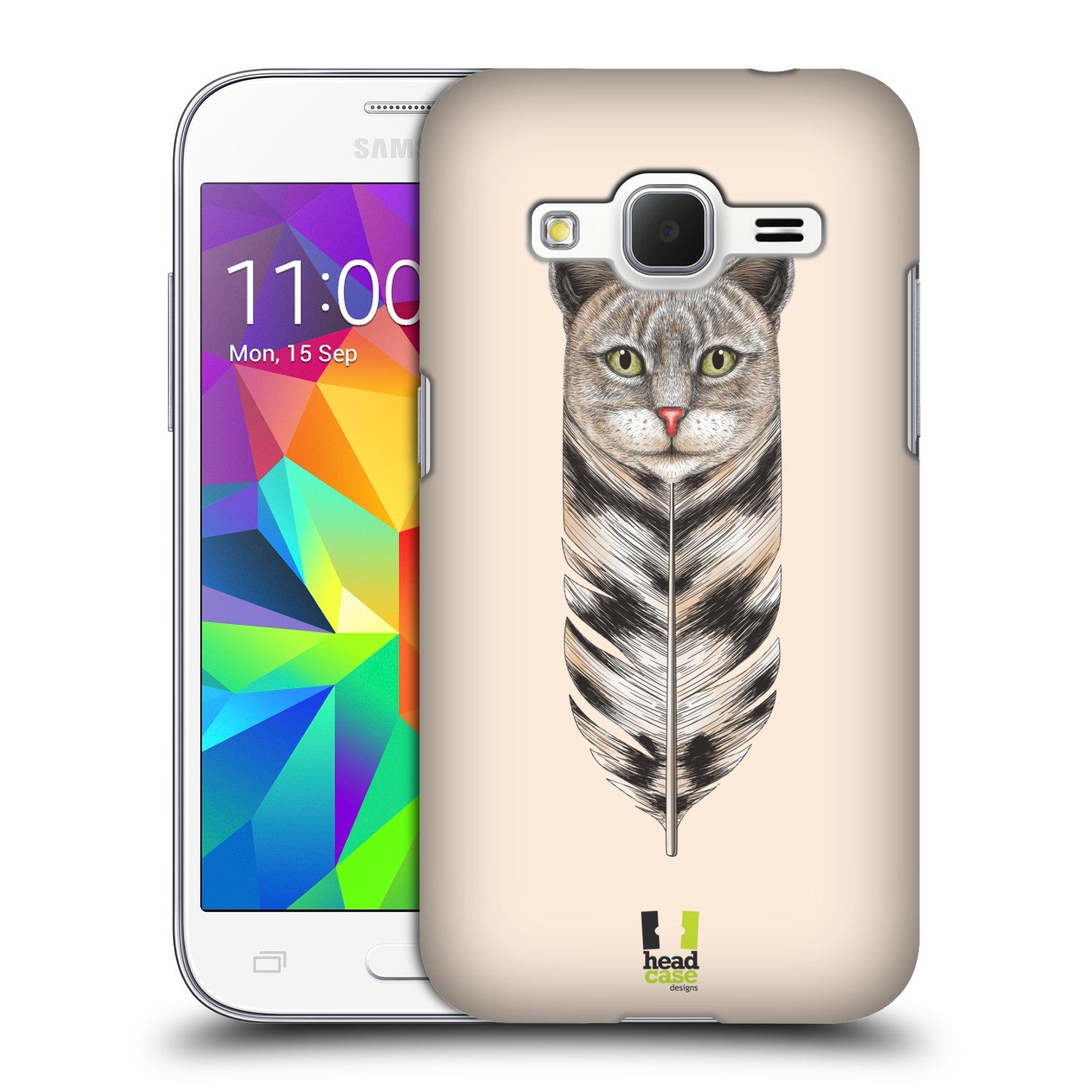 Plastové pouzdro na mobil Samsung Galaxy Core Prime VE HEAD CASE PÍRKO KOČKA (Kryt či obal na mobilní telefon Samsung Galaxy Core Prime LTE VE SM-G361F)