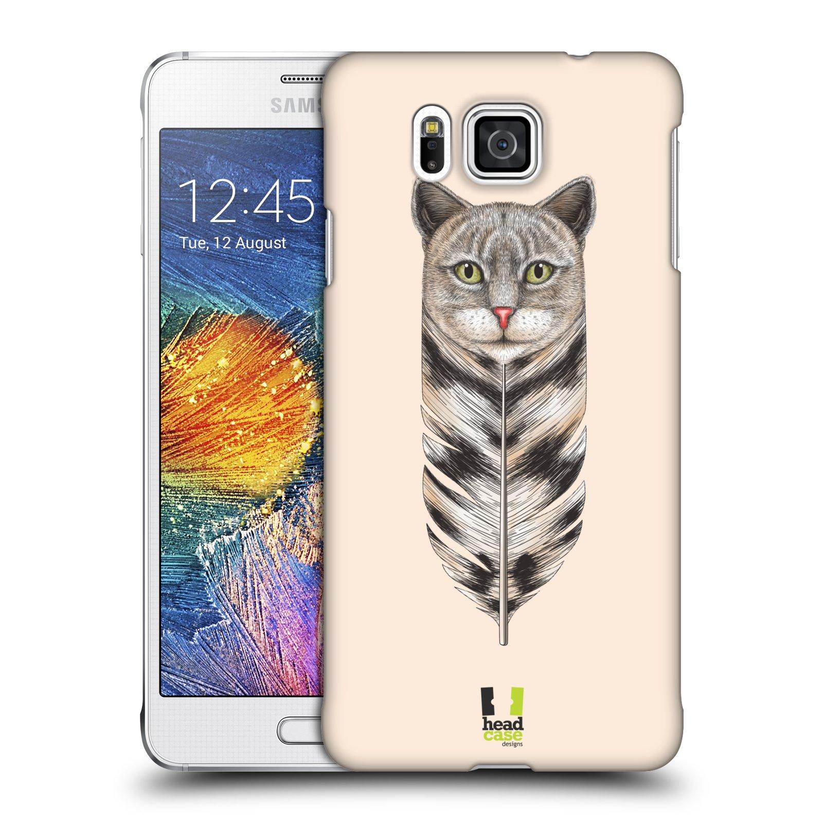 Plastové pouzdro na mobil Samsung Galaxy Alpha HEAD CASE PÍRKO KOČKA (Kryt či obal na mobilní telefon Samsung Galaxy Alpha SM-G850)
