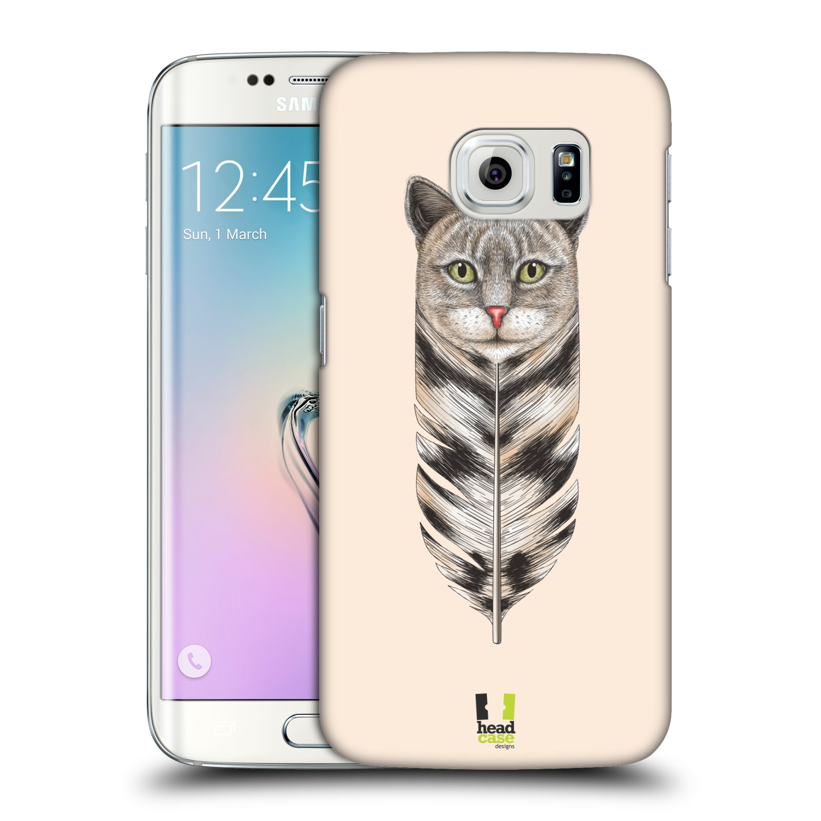 Plastové pouzdro na mobil Samsung Galaxy S6 Edge HEAD CASE PÍRKO KOČKA (Kryt či obal na mobilní telefon Samsung Galaxy S6 Edge SM-G925F)