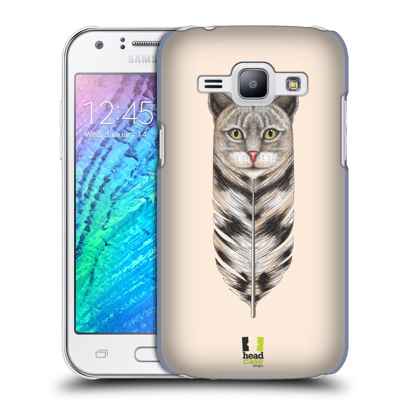 Plastové pouzdro na mobil Samsung Galaxy J1 HEAD CASE PÍRKO KOČKA (Kryt či obal na mobilní telefon Samsung Galaxy J1 a J1 Duos )