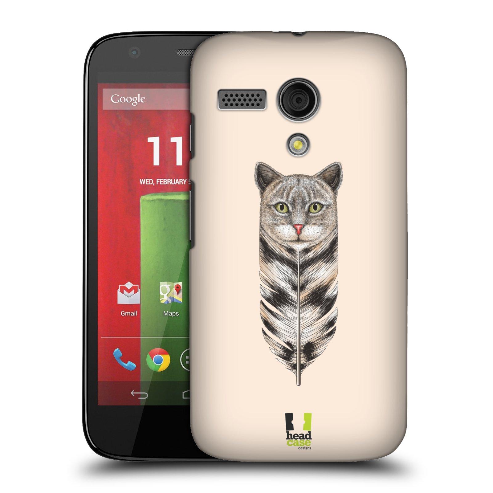Plastové pouzdro na mobil Motorola Moto G HEAD CASE PÍRKO KOČKA (Kryt či obal na mobilní telefon Motorola Moto G)