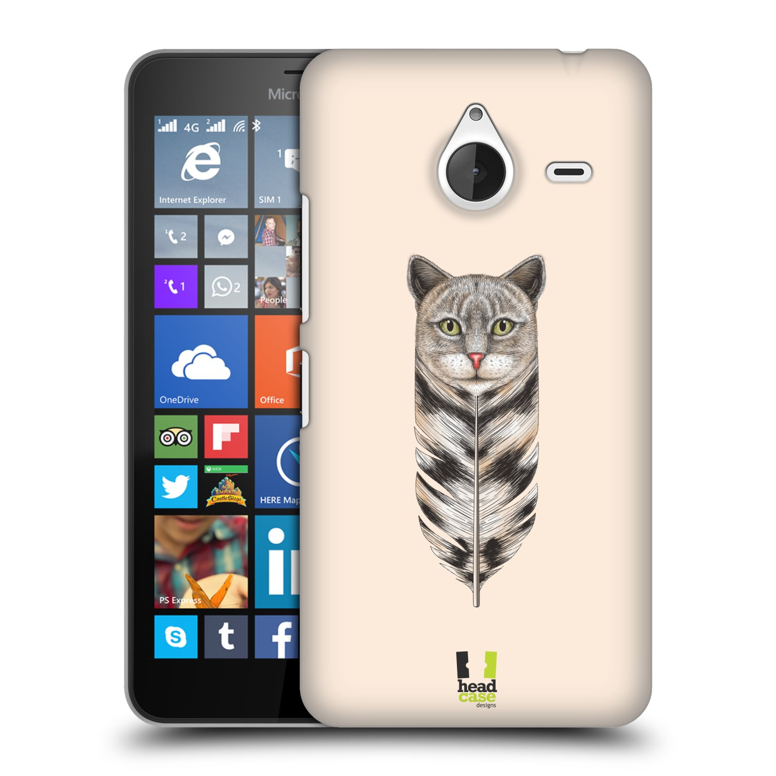 Plastové pouzdro na mobil Microsoft Lumia 640 XL HEAD CASE PÍRKO KOČKA (Kryt či obal na mobilní telefon Microsoft Lumia 640 XL)