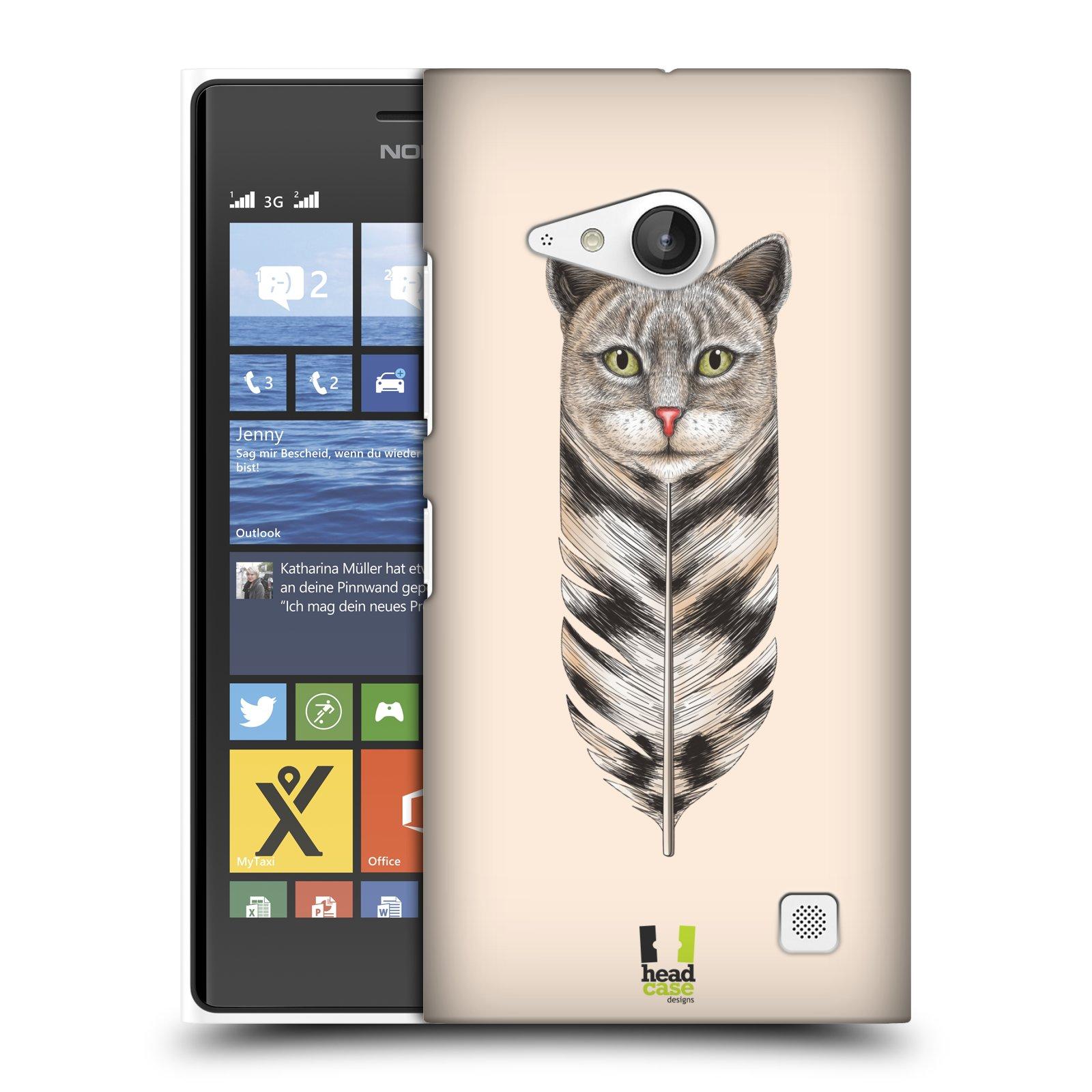 Plastové pouzdro na mobil Nokia Lumia 730 Dual SIM HEAD CASE PÍRKO KOČKA (Kryt či obal na mobilní telefon Nokia Lumia 730 Dual SIM)