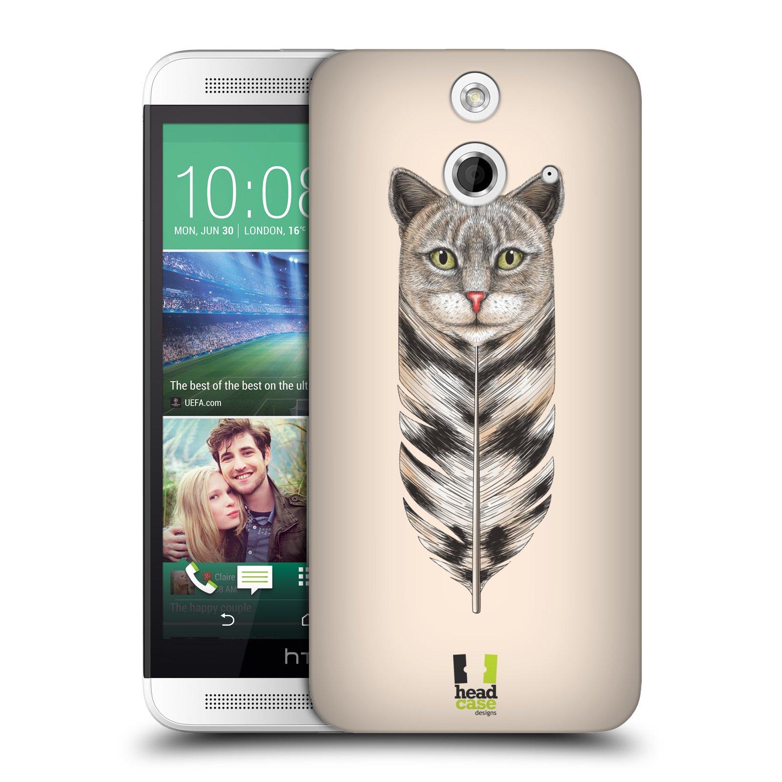 Plastové pouzdro na mobil HTC ONE E8 HEAD CASE PÍRKO KOČKA (Kryt či obal na mobilní telefon HTC ONE E8)