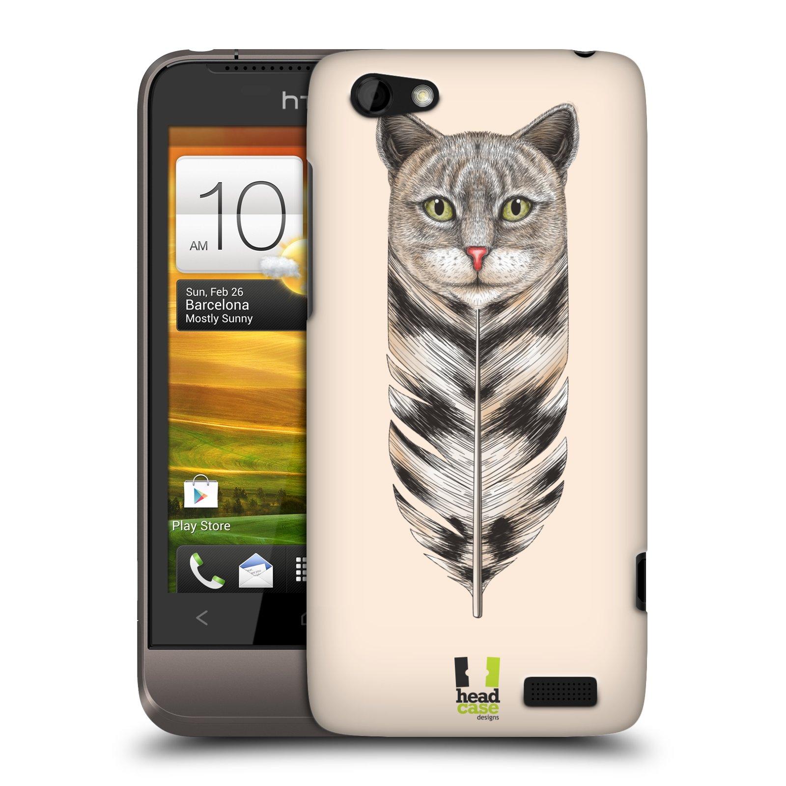 Plastové pouzdro na mobil HTC ONE V HEAD CASE PÍRKO KOČKA (Kryt či obal na mobilní telefon HTC ONE V)