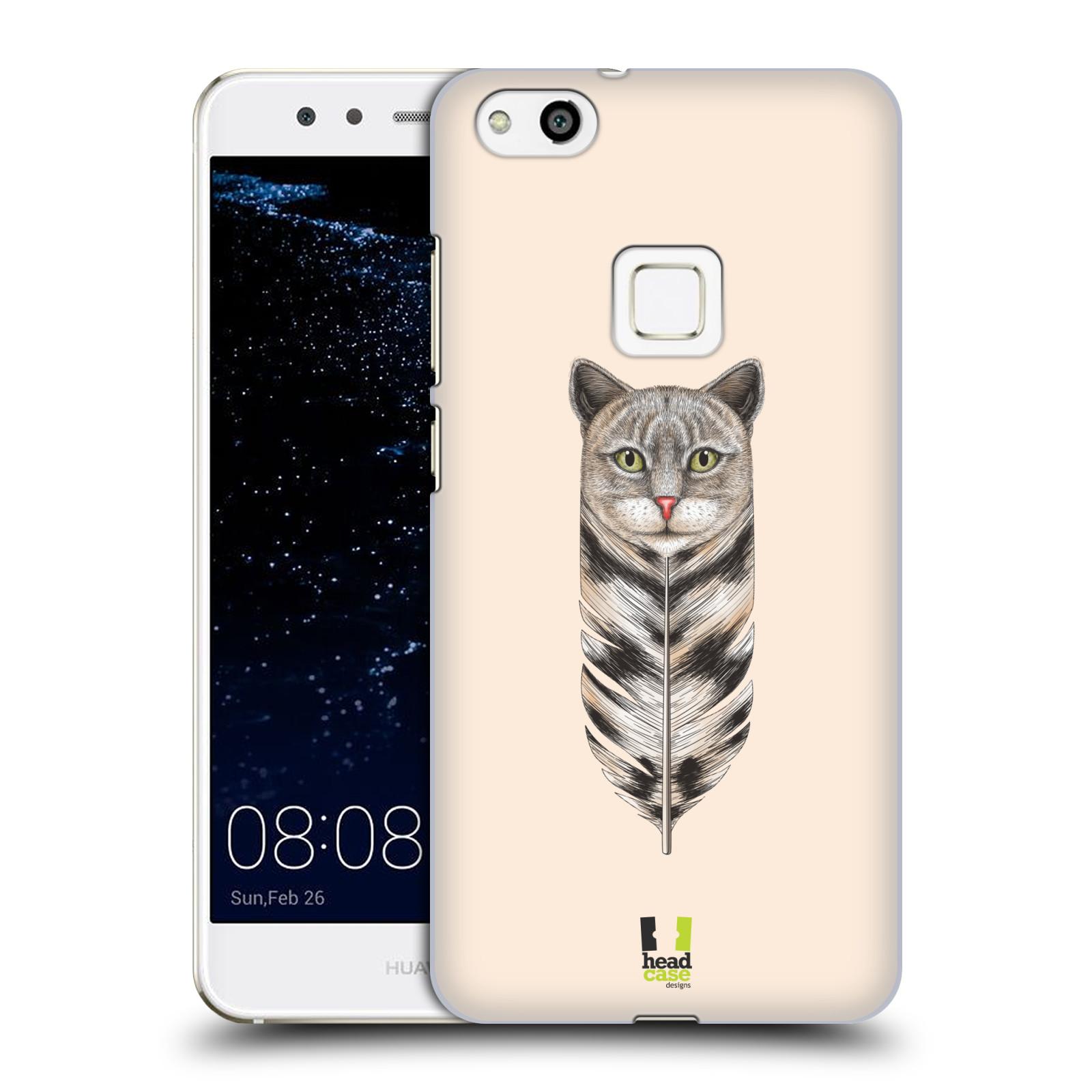 Plastové pouzdro na mobil Huawei P10 Lite Head Case - PÍRKO KOČKA (Plastový kryt či obal na mobilní telefon Huawei P10 Lite Dual SIM (LX1/LX1A))