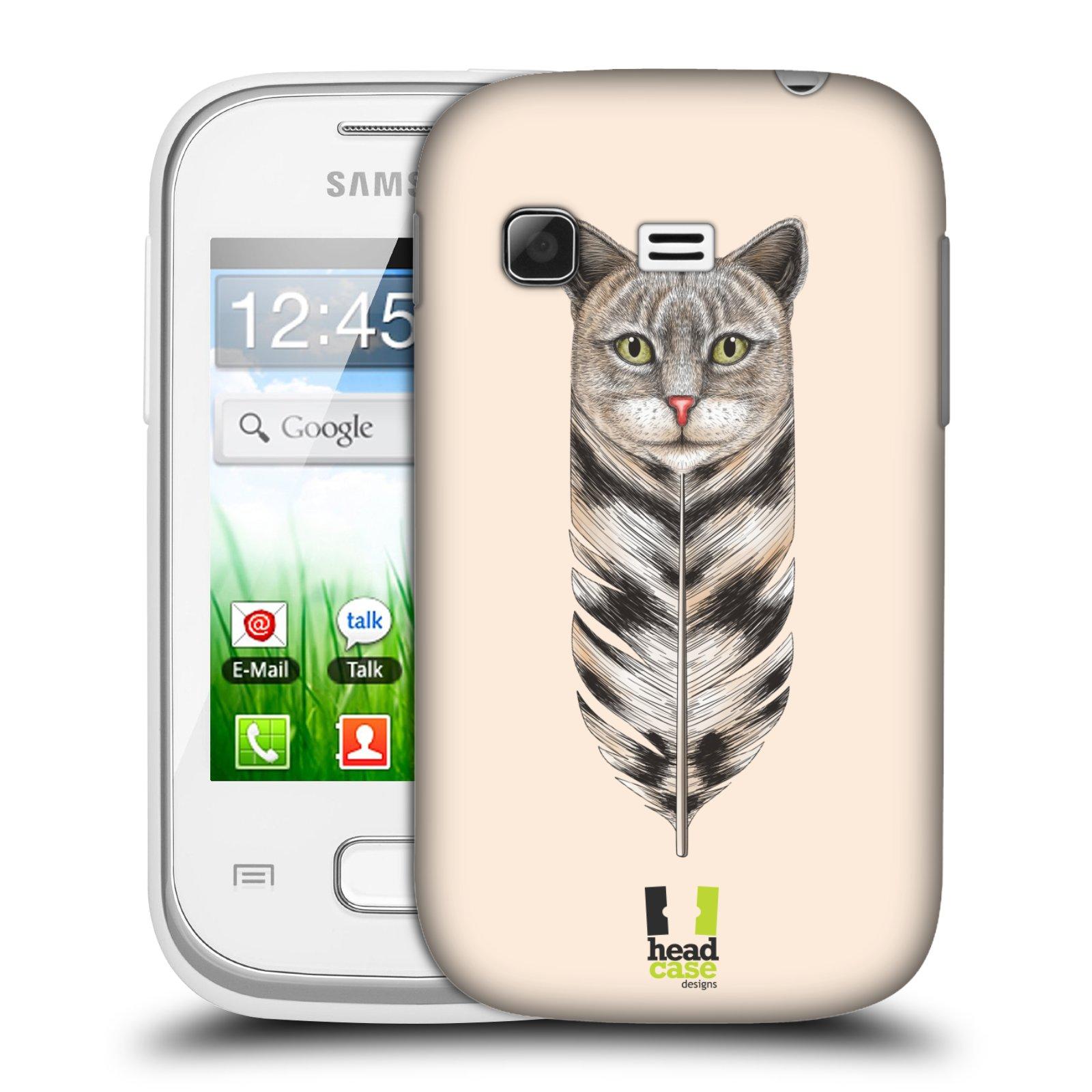 Plastové pouzdro na mobil Samsung Galaxy Pocket HEAD CASE PÍRKO KOČKA (Kryt či obal na mobilní telefon Samsung Galaxy Pocket GT-S5300)