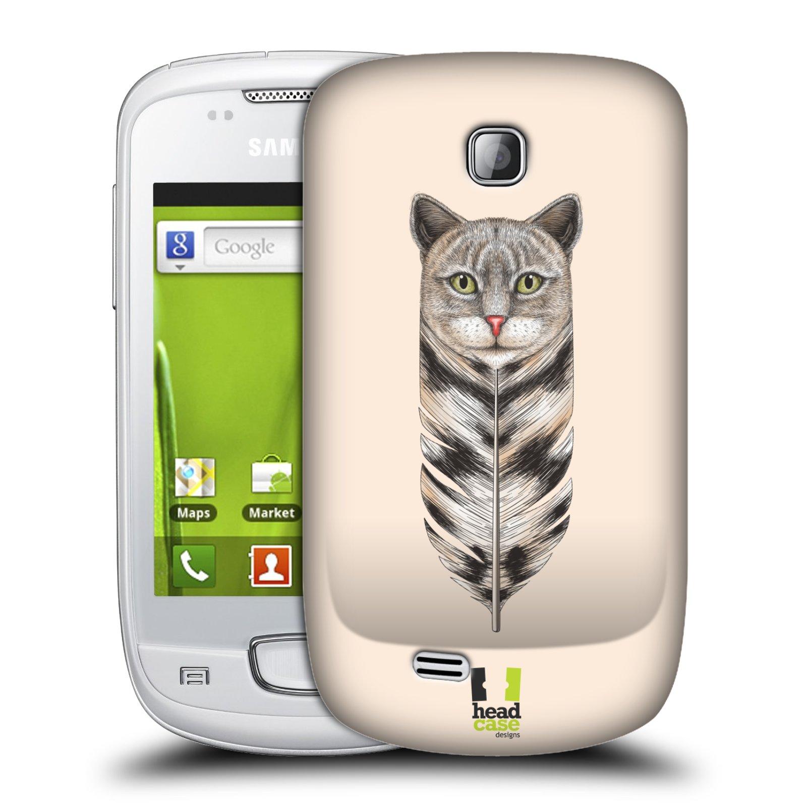 Plastové pouzdro na mobil Samsung Galaxy Mini HEAD CASE PÍRKO KOČKA (Kryt či obal na mobilní telefon Samsung Galaxy Mini GT-S5570 / GT-S5570i)