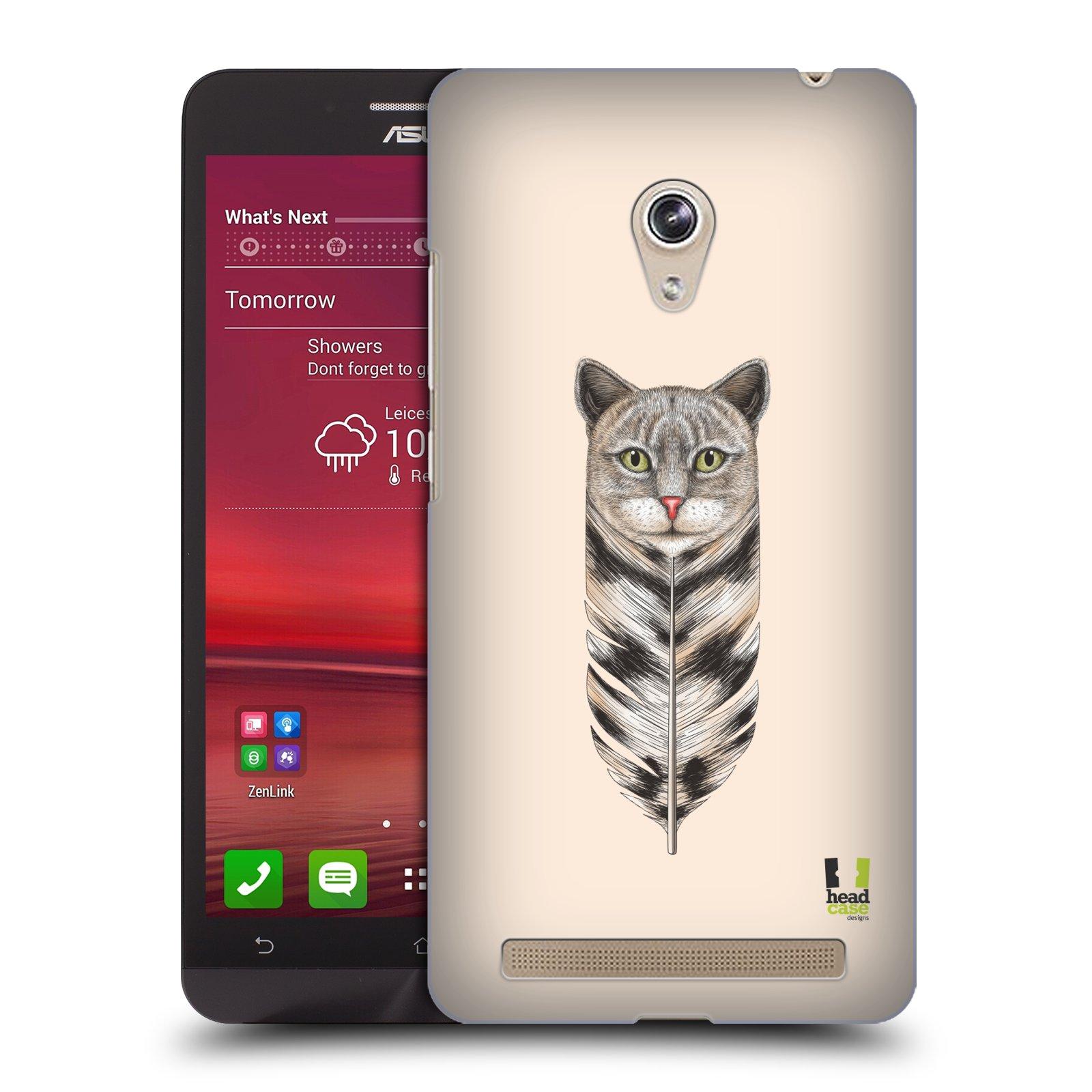 Plastové pouzdro na mobil Asus Zenfone 6 HEAD CASE PÍRKO KOČKA (Kryt či obal na mobilní telefon Asus Zenfone 6 A600CG / A601CG)