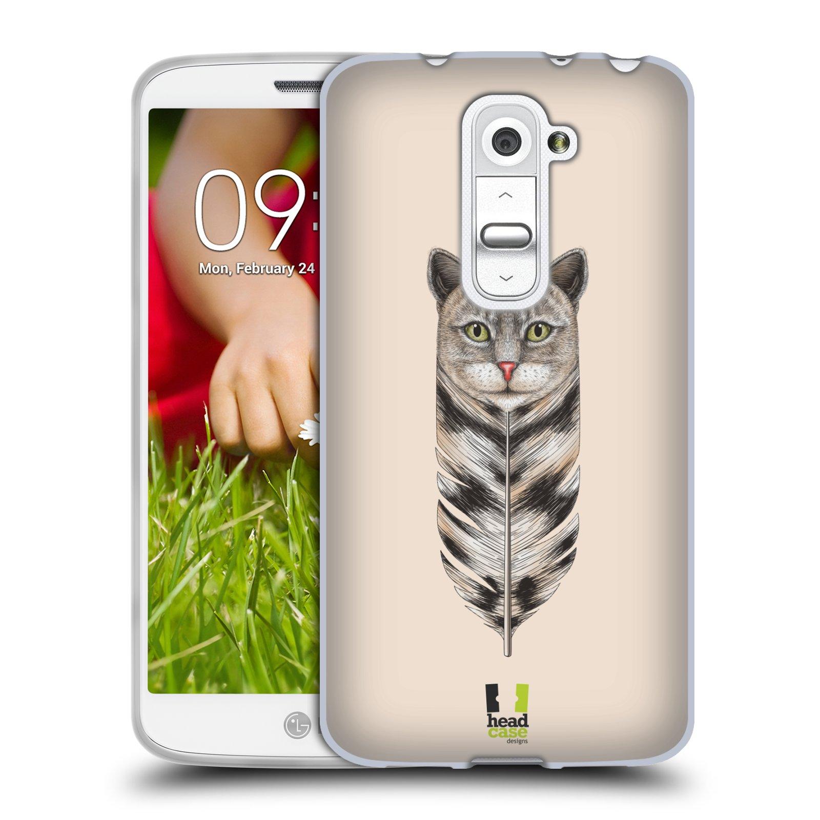 Silikonové pouzdro na mobil LG G2 Mini HEAD CASE PÍRKO KOČKA (Silikonový kryt či obal na mobilní telefon LG G2 Mini D620)