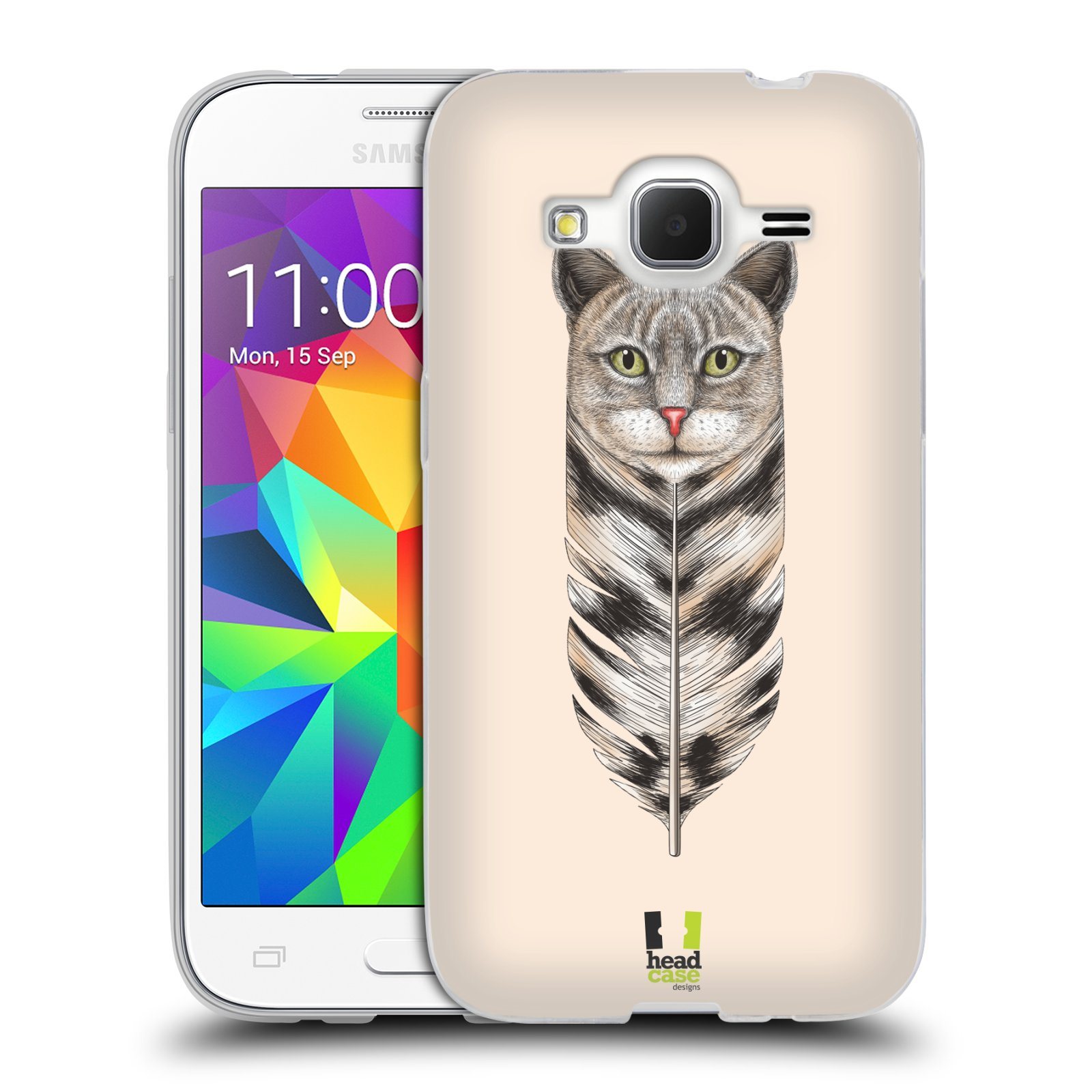 Silikonové pouzdro na mobil Samsung Galaxy Core Prime LTE HEAD CASE PÍRKO KOČKA (Silikonový kryt či obal na mobilní telefon Samsung Galaxy Core Prime LTE SM-G360)