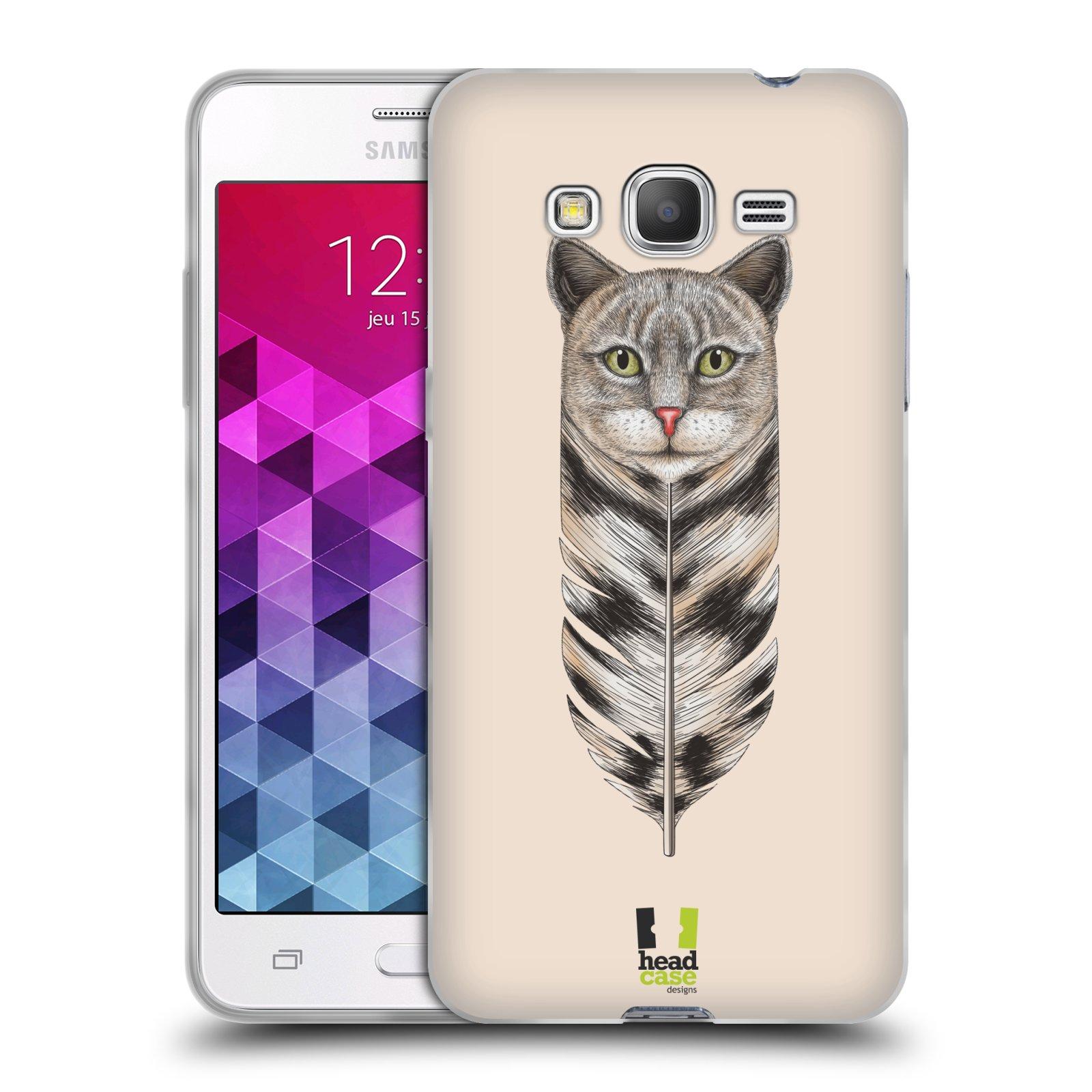 Silikonové pouzdro na mobil Samsung Galaxy Grand Prime VE HEAD CASE PÍRKO KOČKA (Silikonový kryt či obal na mobilní telefon Samsung Galaxy Grand Prime VE SM-G531F)