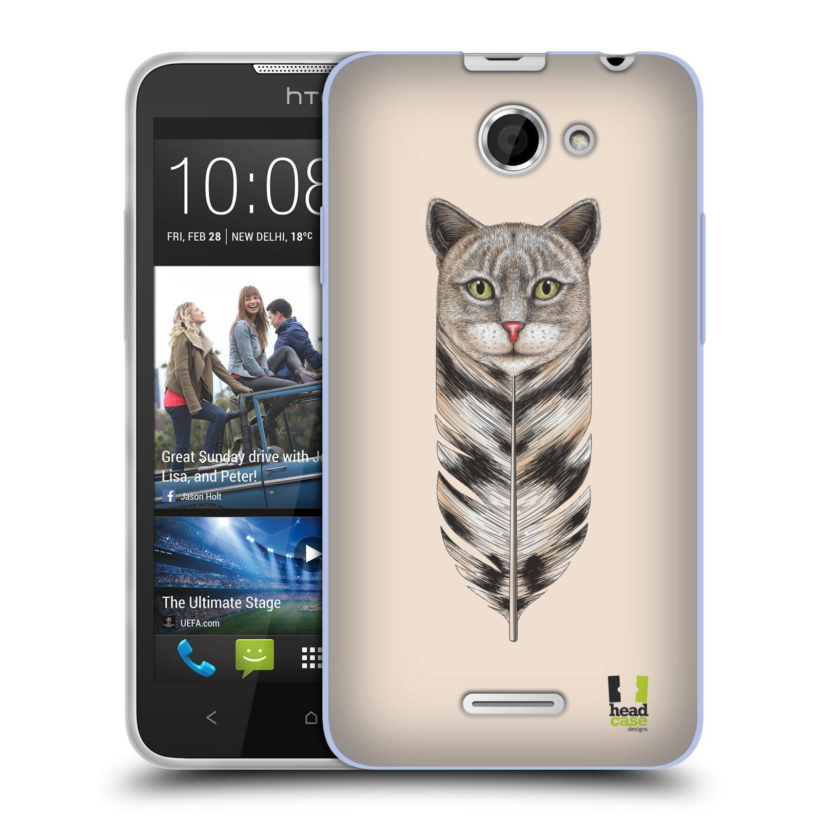 Silikonové pouzdro na mobil HTC Desire 516 HEAD CASE PÍRKO KOČKA (Silikonový kryt či obal na mobilní telefon HTC Desire 516 Dual SIM)
