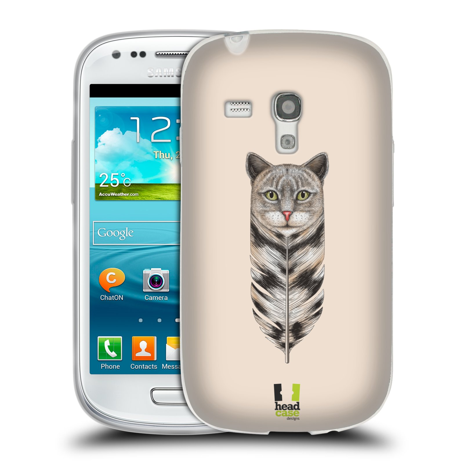 Silikonové pouzdro na mobil Samsung Galaxy S3 Mini VE HEAD CASE PÍRKO KOČKA (Silikonový kryt či obal na mobilní telefon Samsung Galaxy S3 Mini VE GT-i8200)