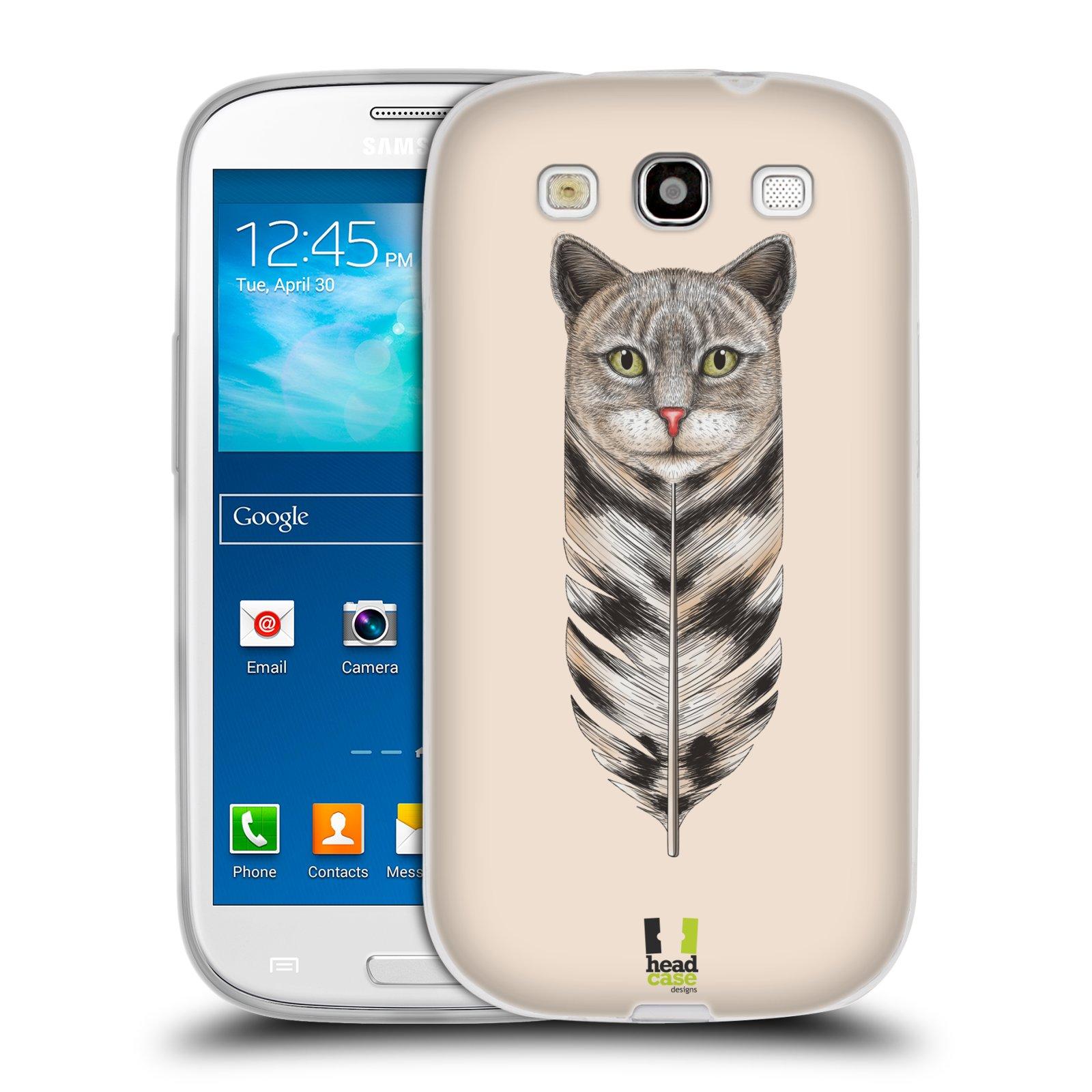 Silikonové pouzdro na mobil Samsung Galaxy S III HEAD CASE PÍRKO KOČKA (Silikonový kryt či obal na mobilní telefon Samsung Galaxy S III GT-i9300)