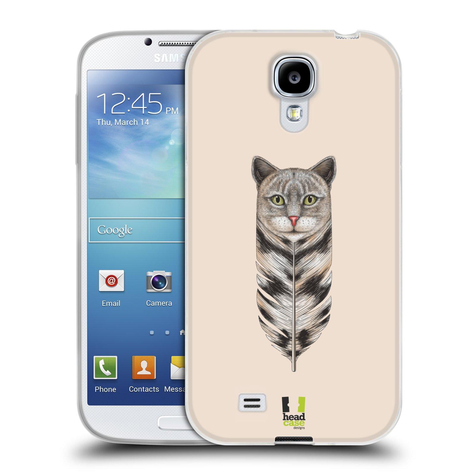 Silikonové pouzdro na mobil Samsung Galaxy S4 HEAD CASE PÍRKO KOČKA (Silikonový kryt či obal na mobilní telefon Samsung Galaxy S4 GT-i9505 / i9500)