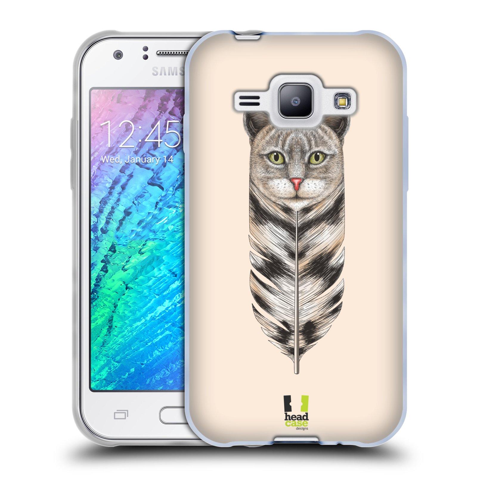 Silikonové pouzdro na mobil Samsung Galaxy J1 HEAD CASE PÍRKO KOČKA (Silikonový kryt či obal na mobilní telefon Samsung Galaxy J1 a J1 Duos)