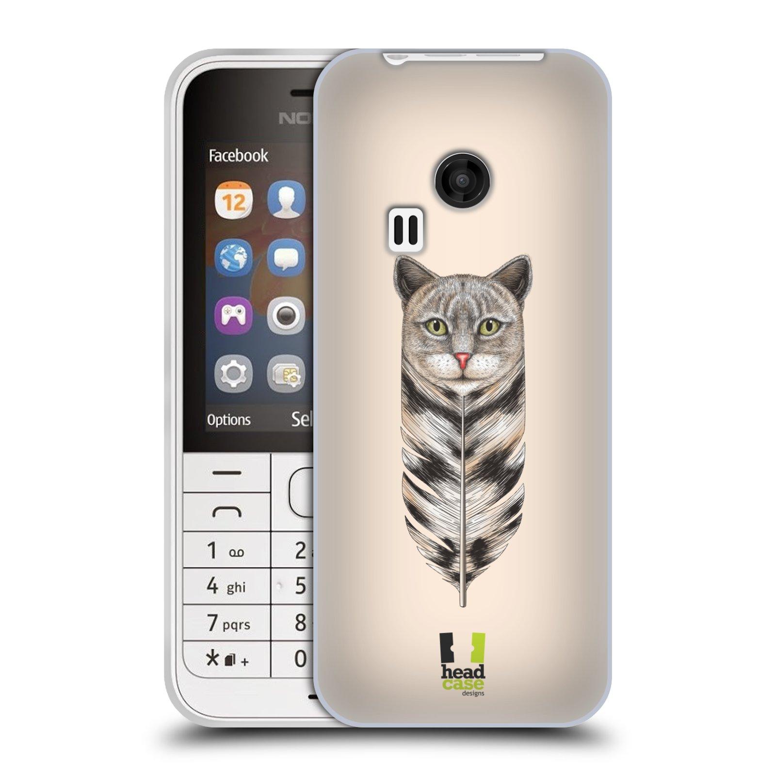 Silikonové pouzdro na mobil Nokia 220 HEAD CASE PÍRKO KOČKA (Silikonový kryt či obal na mobilní telefon Nokia 220 a 220 Dual SIM)