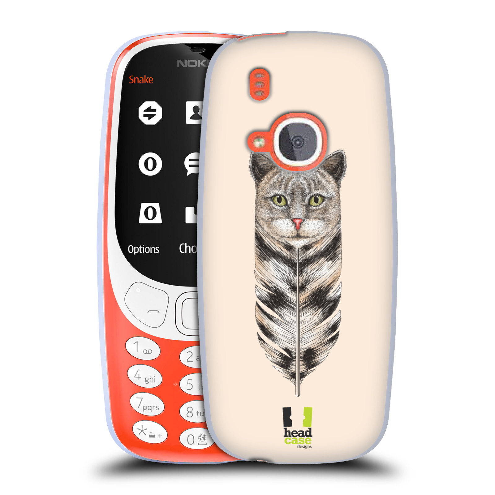 Silikonové pouzdro na mobil Nokia 3310 - Head Case - PÍRKO KOČKA (Silikonový kryt či obal na mobilní telefon Nokia 3310 (2017) s motivem PÍRKO KOČKA)