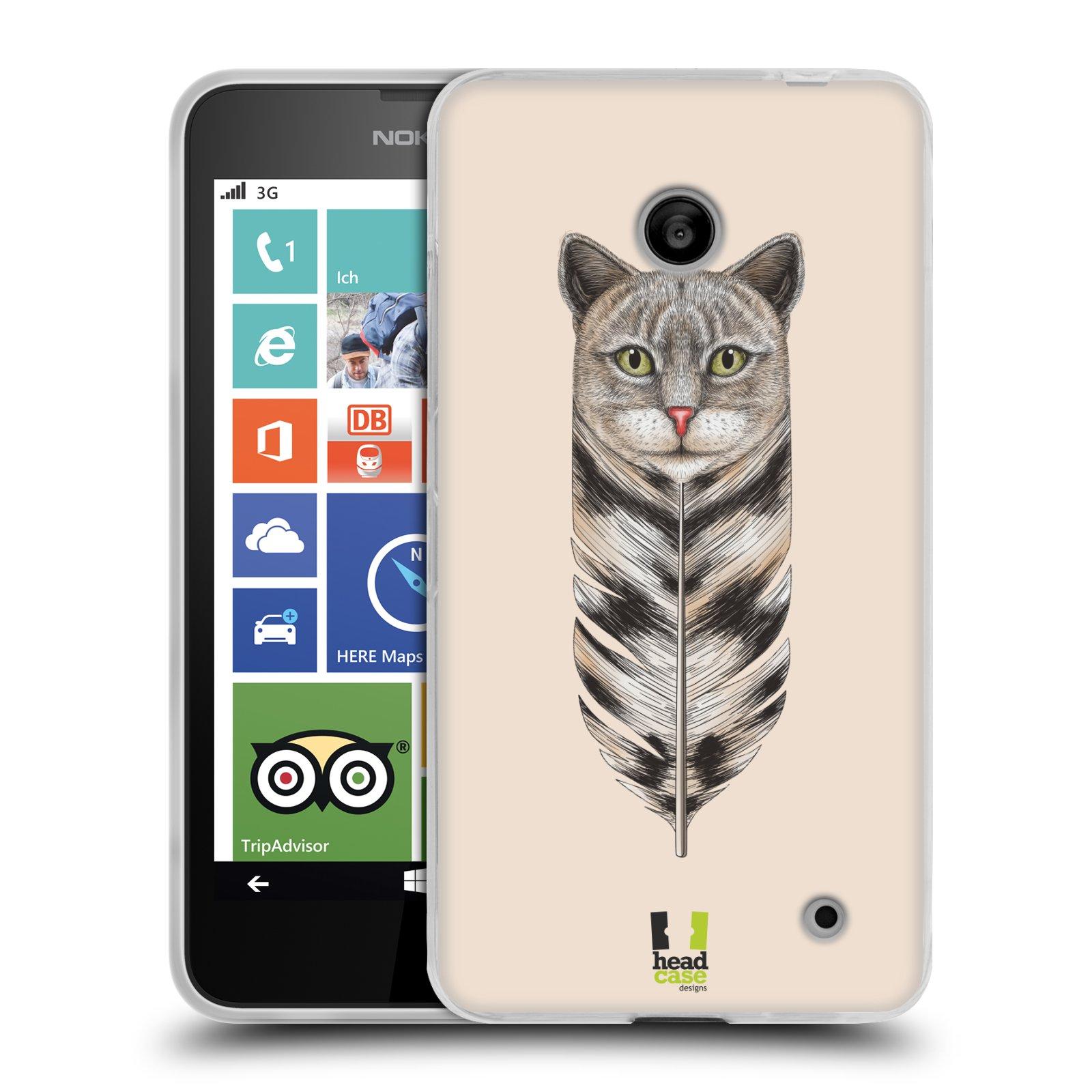 Silikonové pouzdro na mobil Nokia Lumia 630 HEAD CASE PÍRKO KOČKA (Silikonový kryt či obal na mobilní telefon Nokia Lumia 630 a Nokia Lumia 630 Dual SIM)