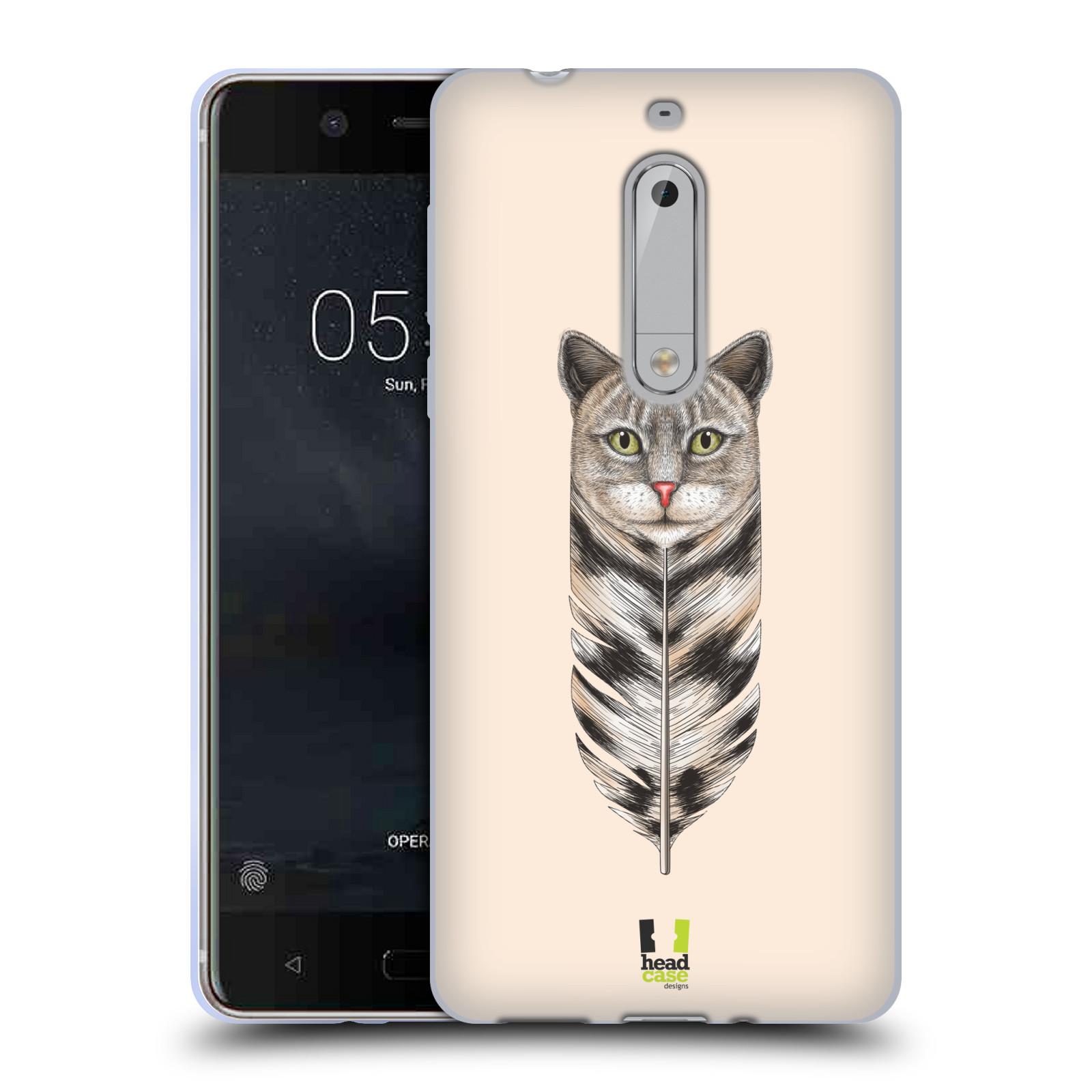 Silikonové pouzdro na mobil Nokia 5 Head Case - PÍRKO KOČKA