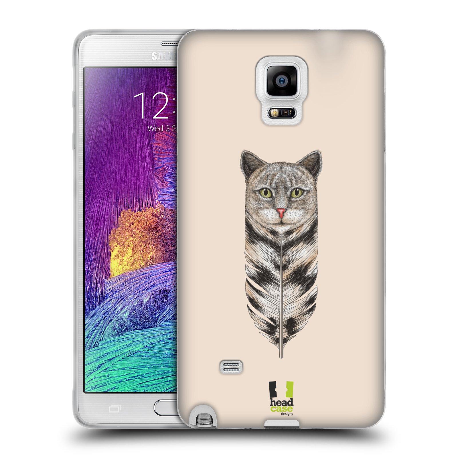 Silikonové pouzdro na mobil Samsung Galaxy Note 4 HEAD CASE PÍRKO KOČKA (Silikonový kryt či obal na mobilní telefon Samsung Galaxy Note 4 SM-N910F)