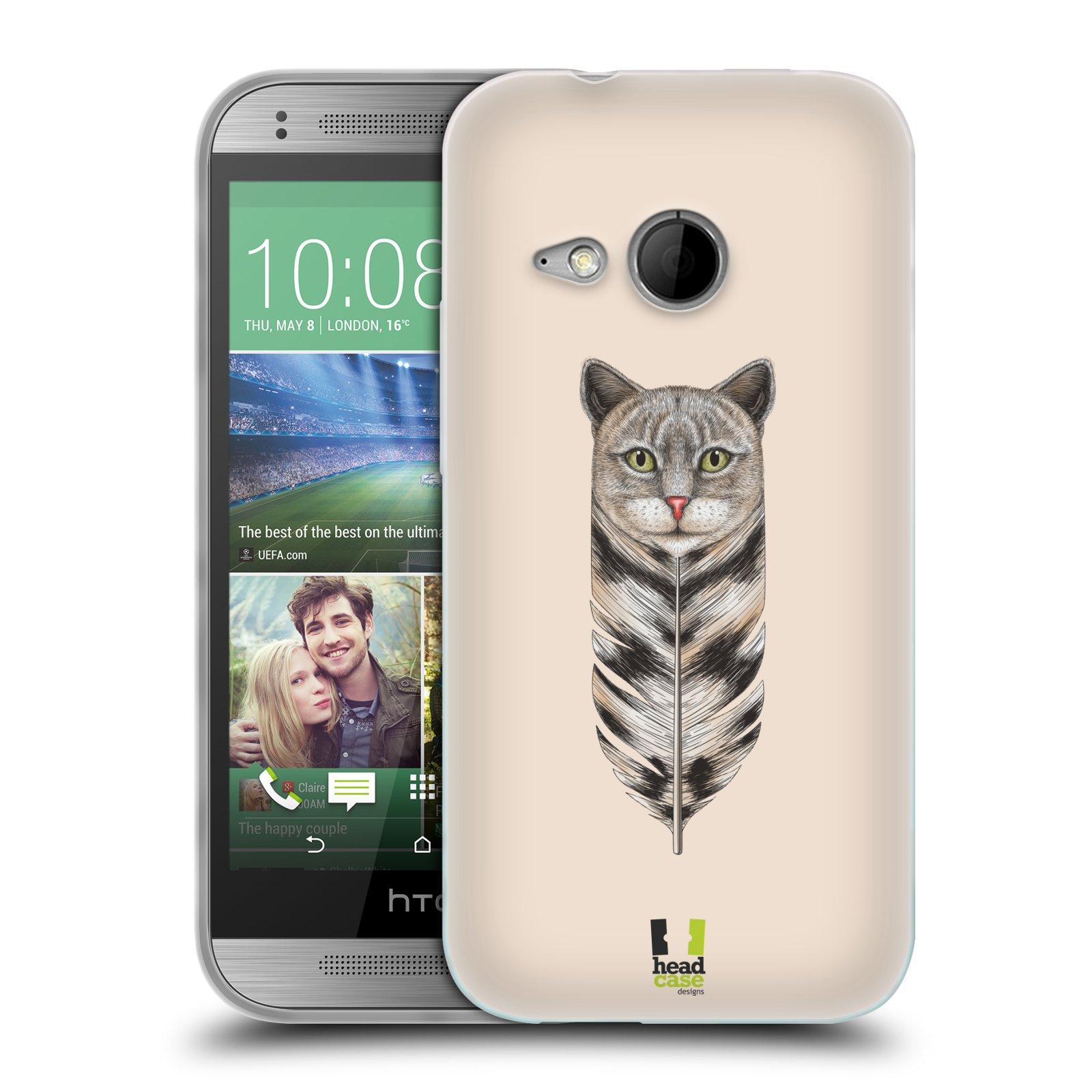 Silikonové pouzdro na mobil HTC ONE Mini 2 HEAD CASE PÍRKO KOČKA (Silikonový kryt či obal na mobilní telefon HTC ONE Mini 2)