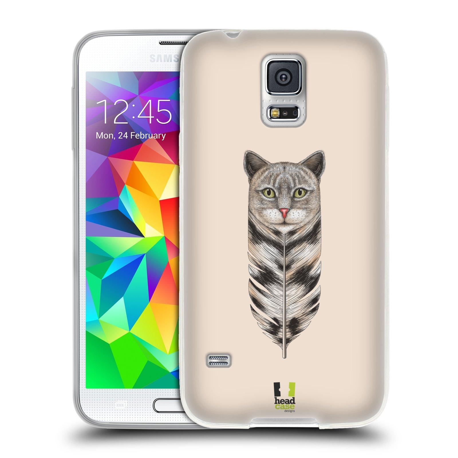 Silikonové pouzdro na mobil Samsung Galaxy S5 HEAD CASE PÍRKO KOČKA (Silikonový kryt či obal na mobilní telefon Samsung Galaxy S5 SM-G900F)