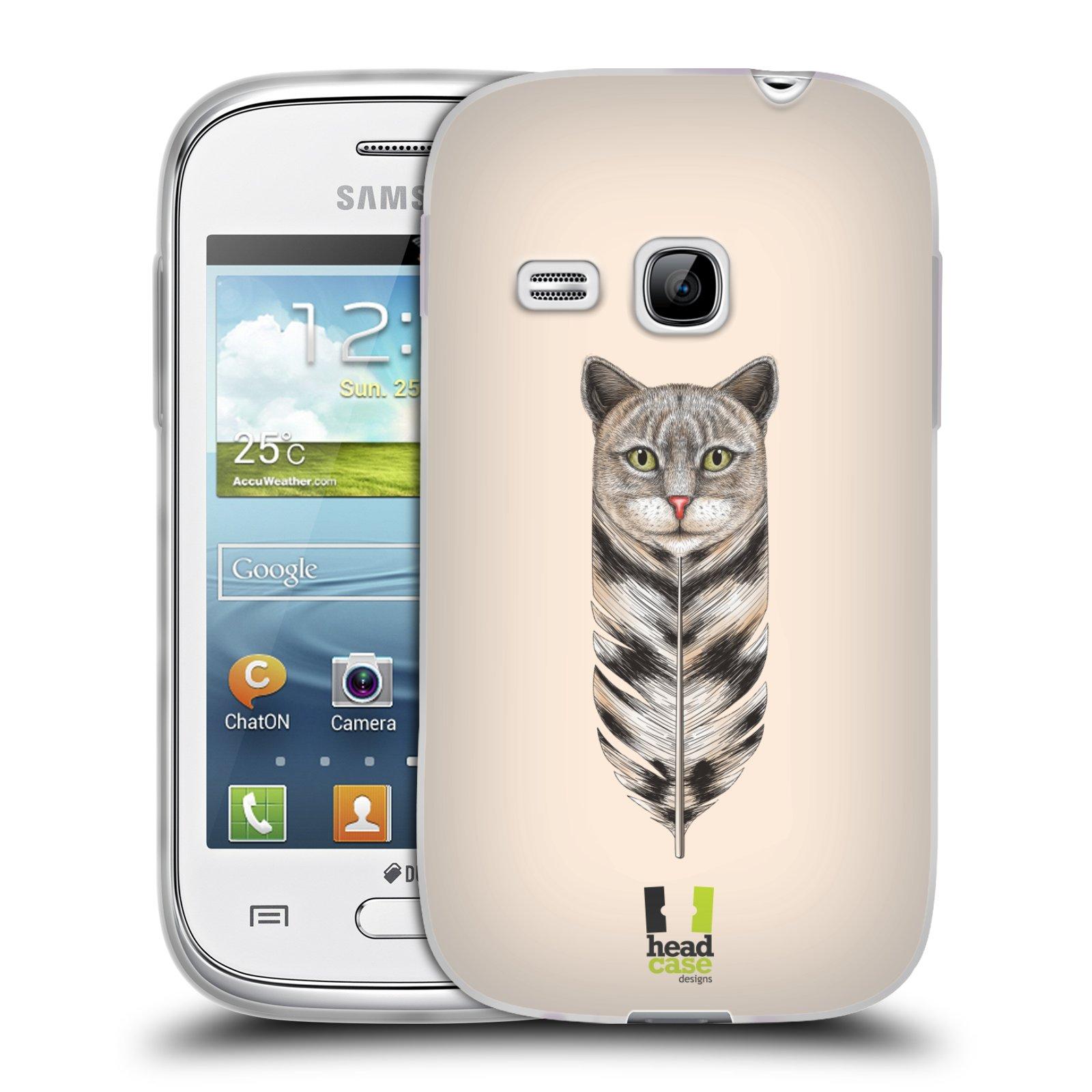 Silikonové pouzdro na mobil Samsung Galaxy Young HEAD CASE PÍRKO KOČKA (Silikonový kryt či obal na mobilní telefon Samsung Galaxy Young GT-S6310)