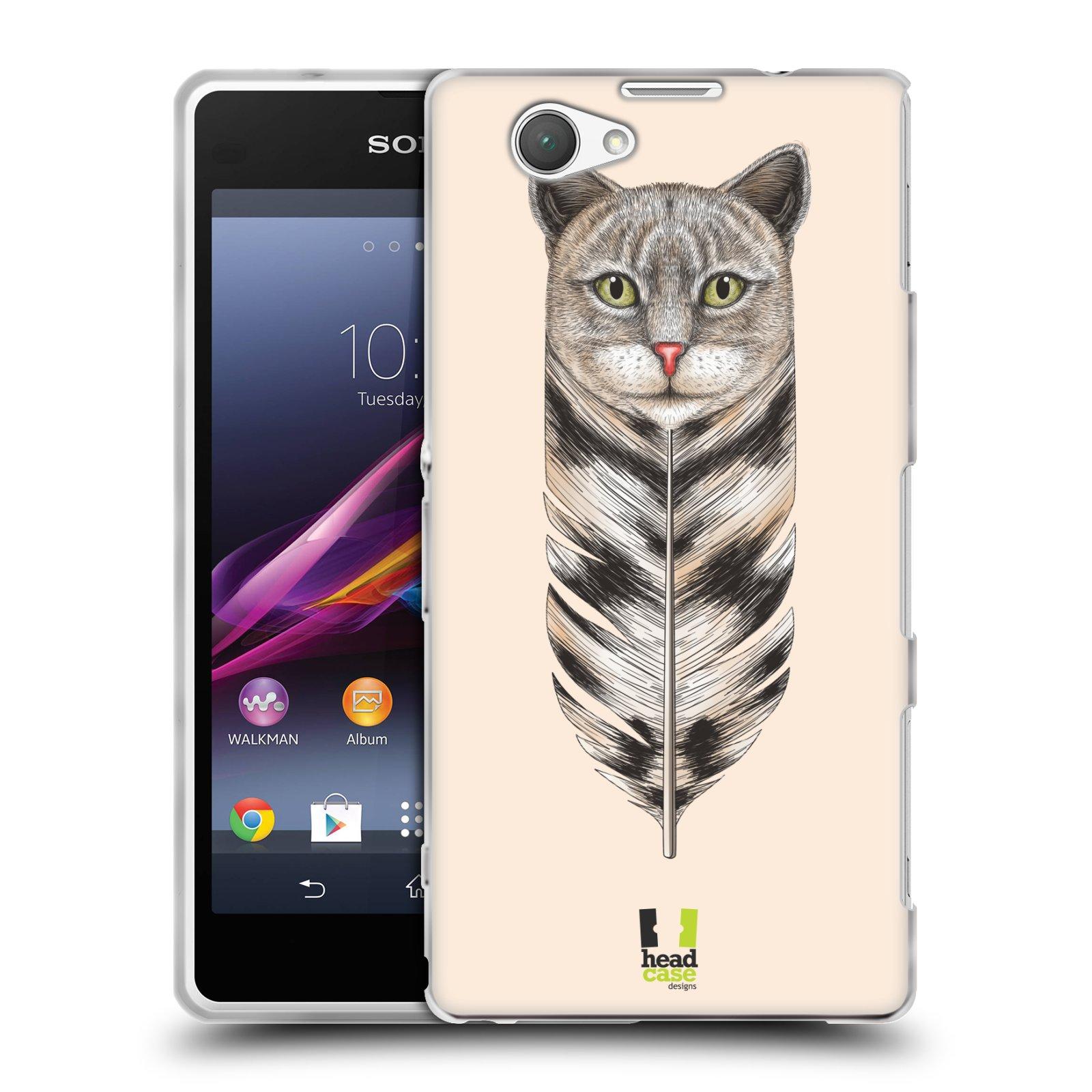 Silikonové pouzdro na mobil Sony Xperia Z1 Compact D5503 HEAD CASE PÍRKO KOČKA (Silikonový kryt či obal na mobilní telefon Sony Xperia Z1 Compact)