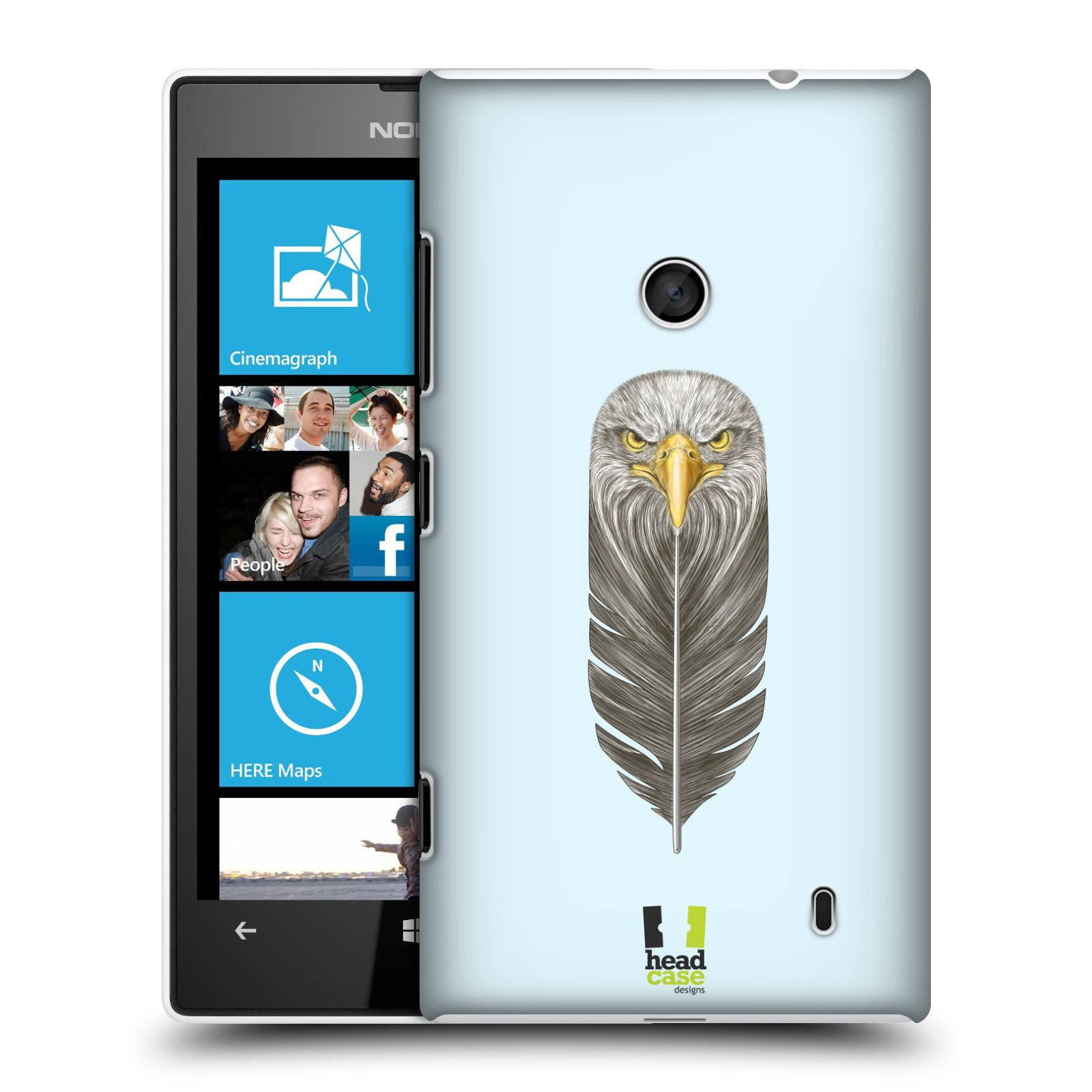 Plastové pouzdro na mobil Nokia Lumia 520 HEAD CASE PÍRKO OREL (Kryt či obal na mobilní telefon Nokia Lumia 520 )