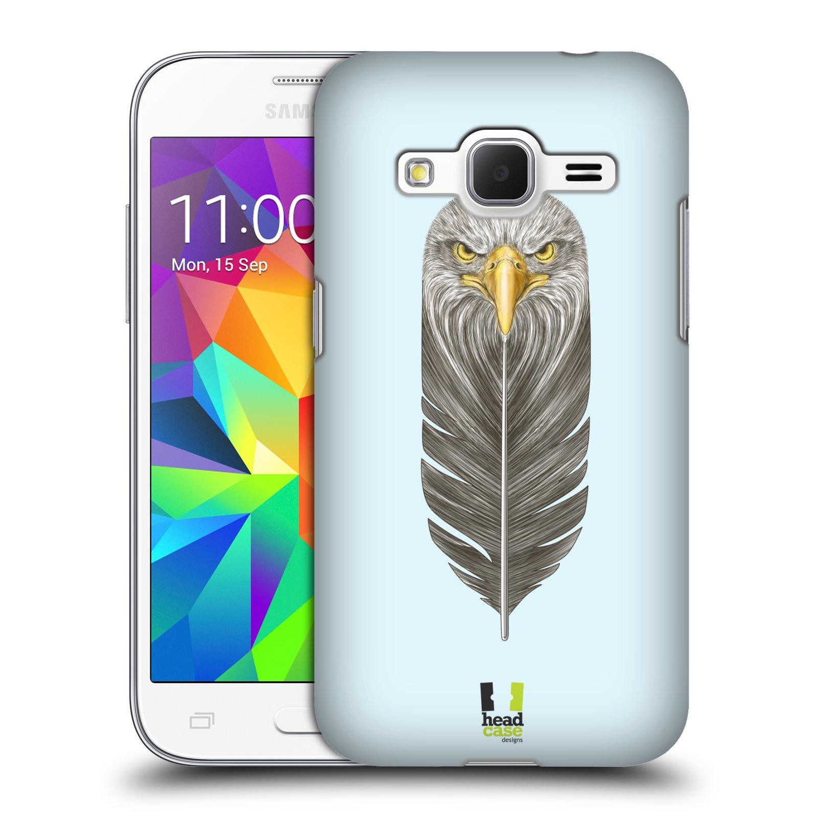 Plastové pouzdro na mobil Samsung Galaxy Core Prime VE HEAD CASE PÍRKO OREL (Kryt či obal na mobilní telefon Samsung Galaxy Core Prime LTE VE SM-G361F)
