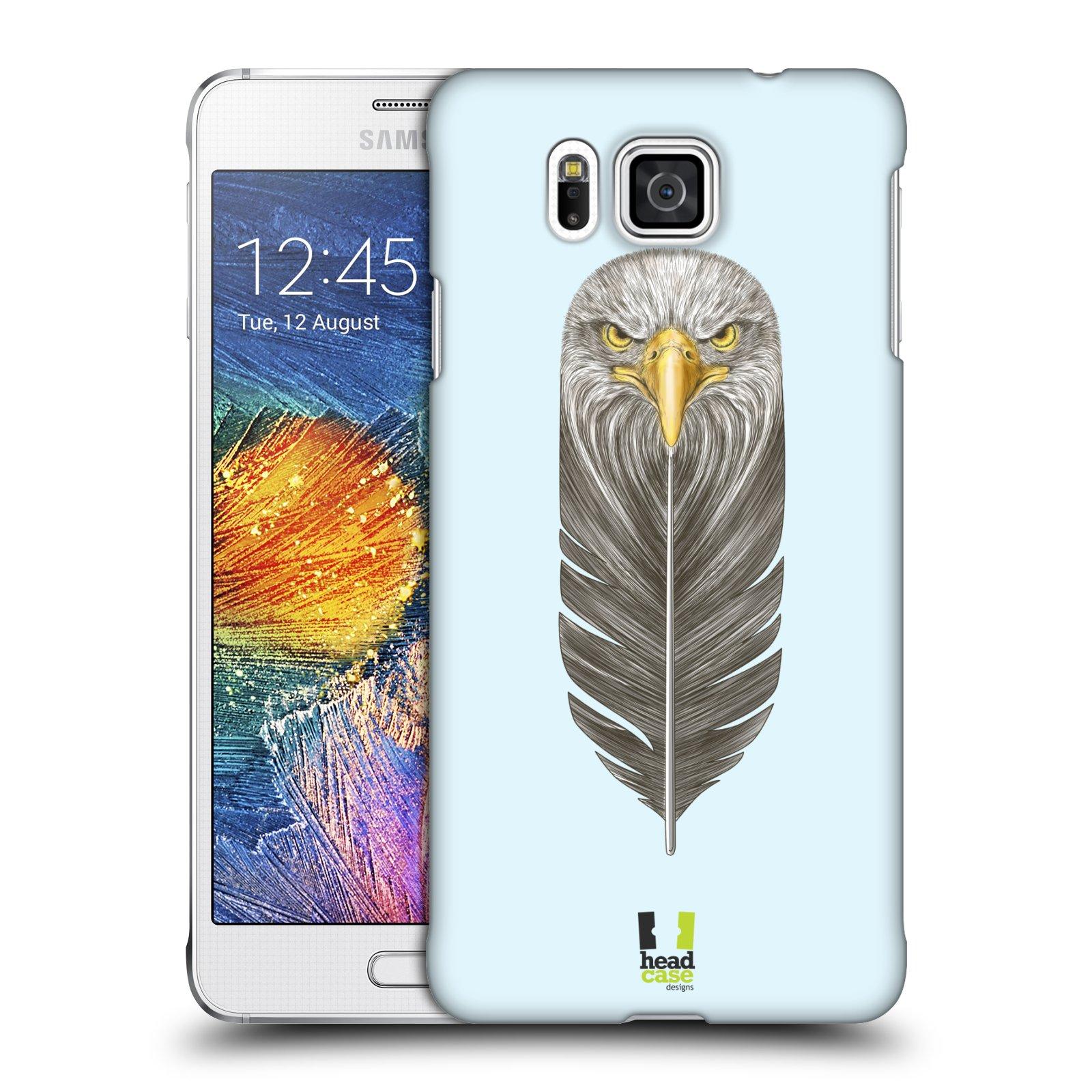 Plastové pouzdro na mobil Samsung Galaxy Alpha HEAD CASE PÍRKO OREL (Kryt či obal na mobilní telefon Samsung Galaxy Alpha SM-G850)