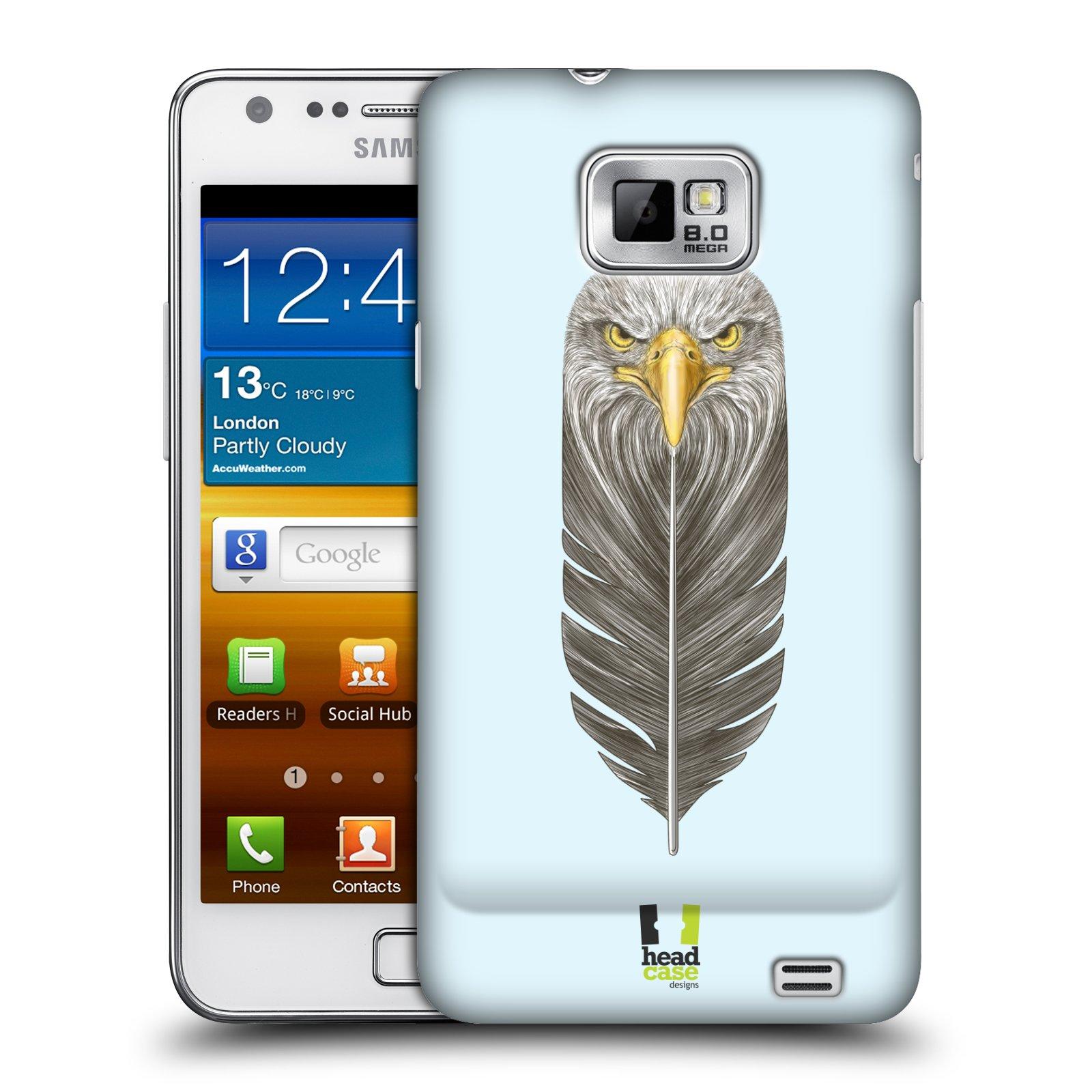 Plastové pouzdro na mobil Samsung Galaxy S II HEAD CASE PÍRKO OREL (Kryt či obal na mobilní telefon Samsung Galaxy S II GT-i9100)