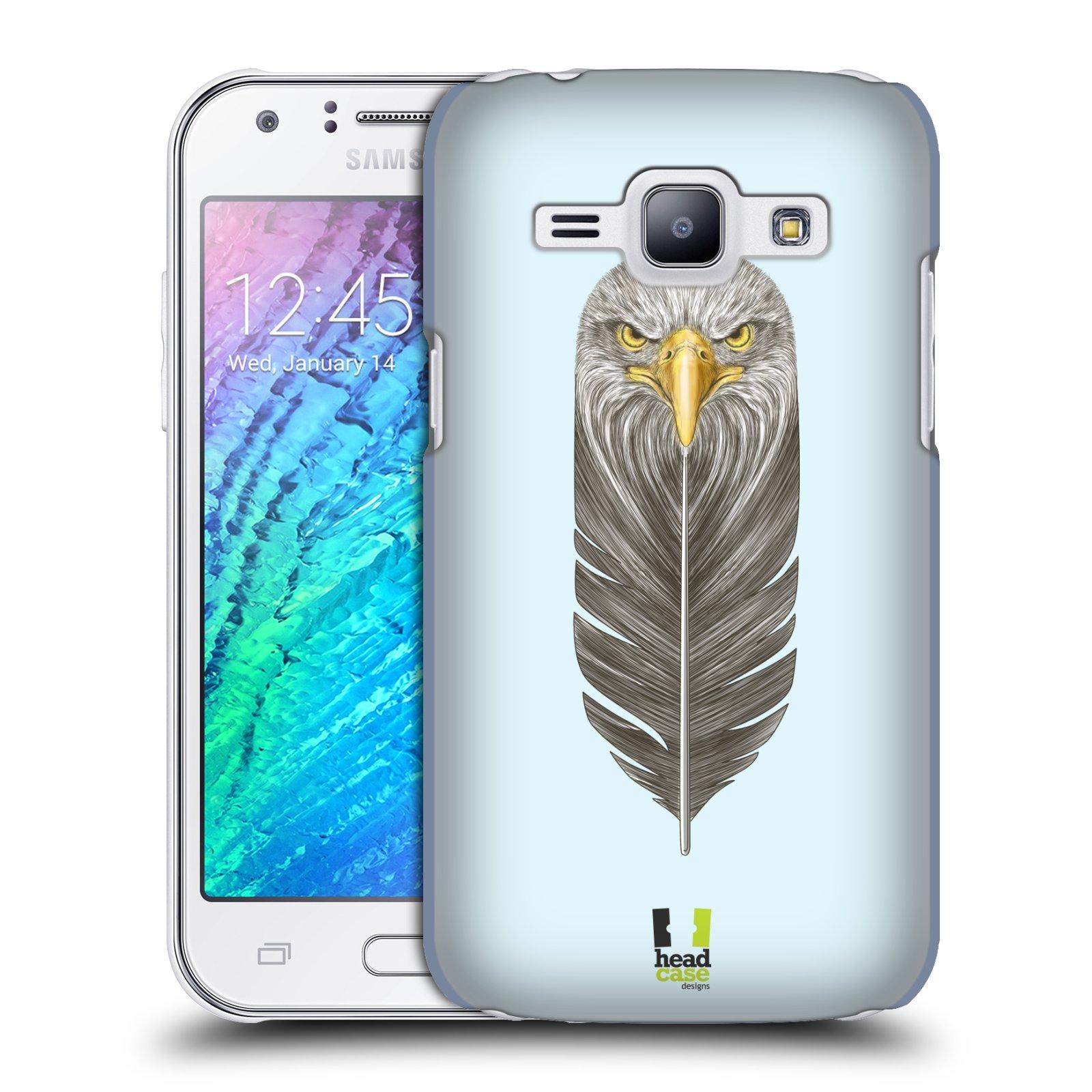 Plastové pouzdro na mobil Samsung Galaxy J1 HEAD CASE PÍRKO OREL (Kryt či obal na mobilní telefon Samsung Galaxy J1 a J1 Duos )