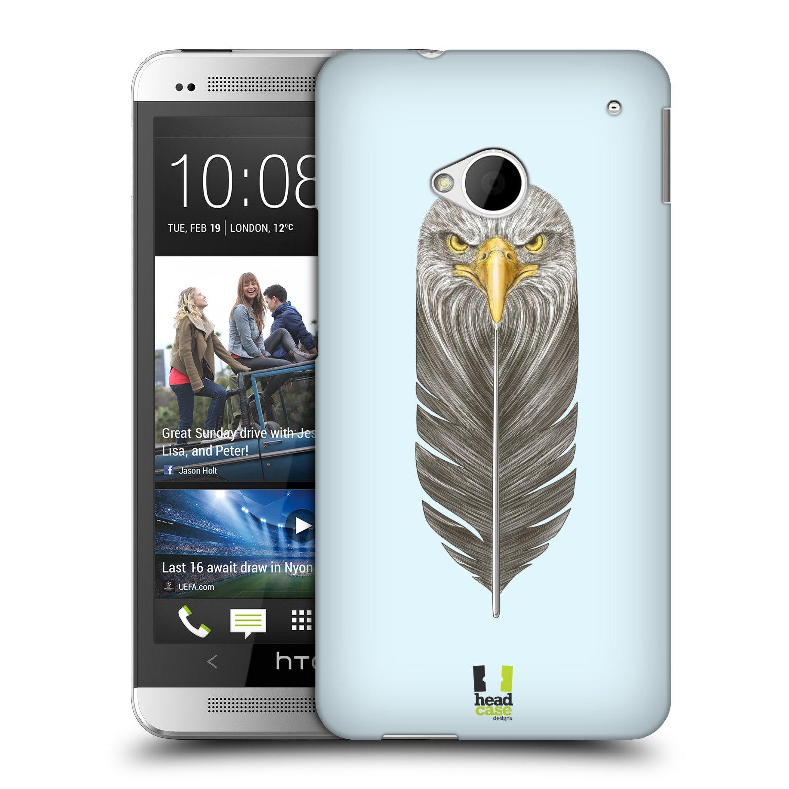 Plastové pouzdro na mobil HTC ONE M7 HEAD CASE PÍRKO OREL (Kryt či obal na mobilní telefon HTC ONE M7)