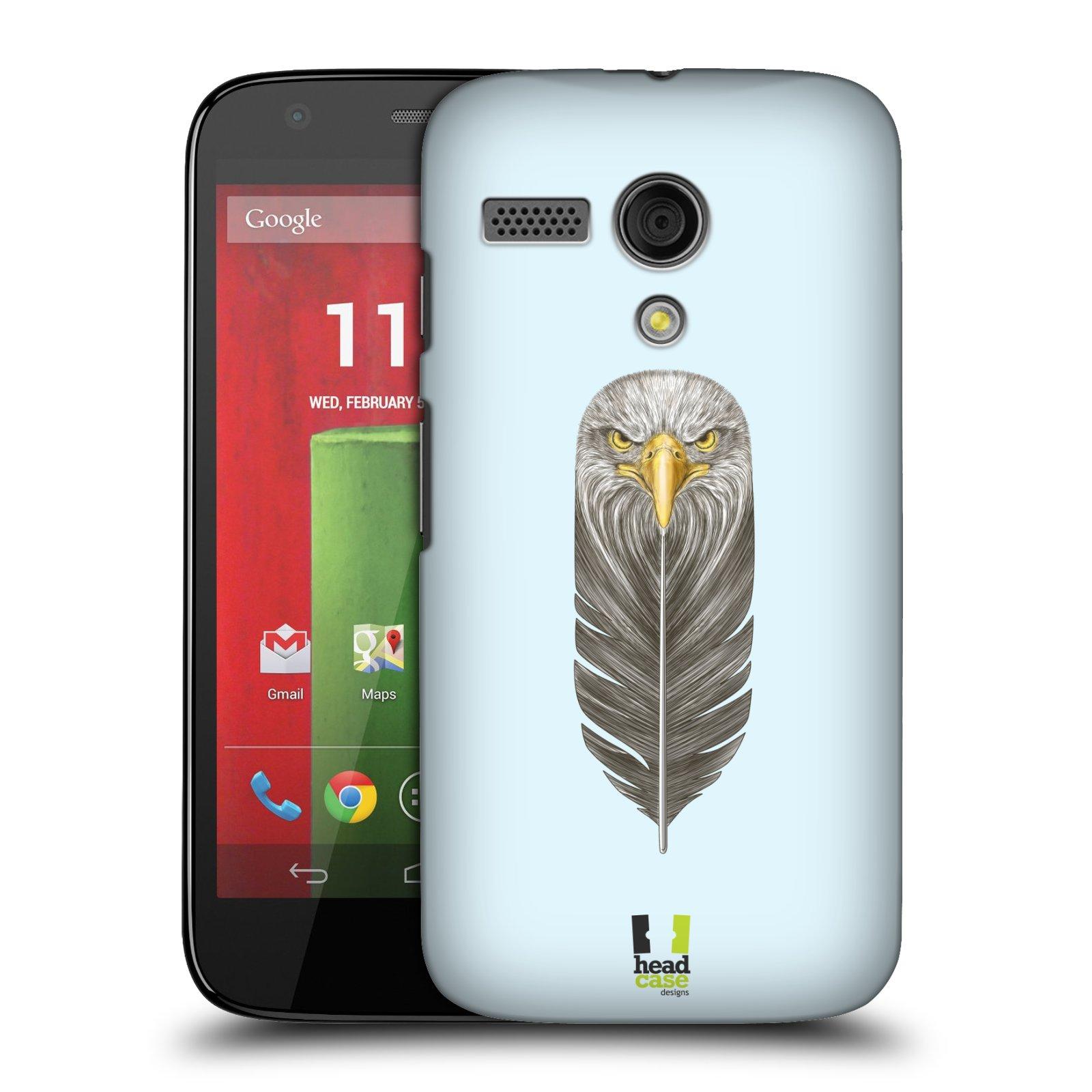 Plastové pouzdro na mobil Motorola Moto G HEAD CASE PÍRKO OREL (Kryt či obal na mobilní telefon Motorola Moto G)