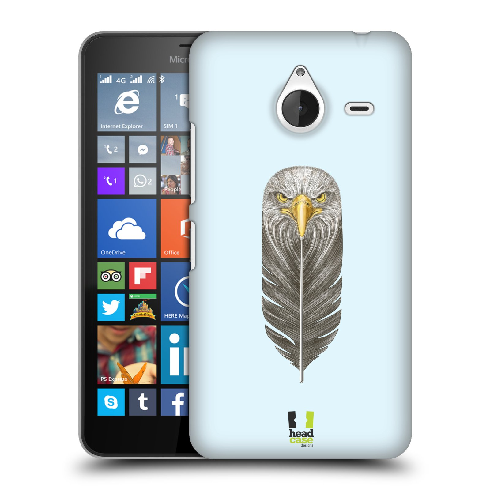 Plastové pouzdro na mobil Microsoft Lumia 640 XL HEAD CASE PÍRKO OREL (Kryt či obal na mobilní telefon Microsoft Lumia 640 XL)