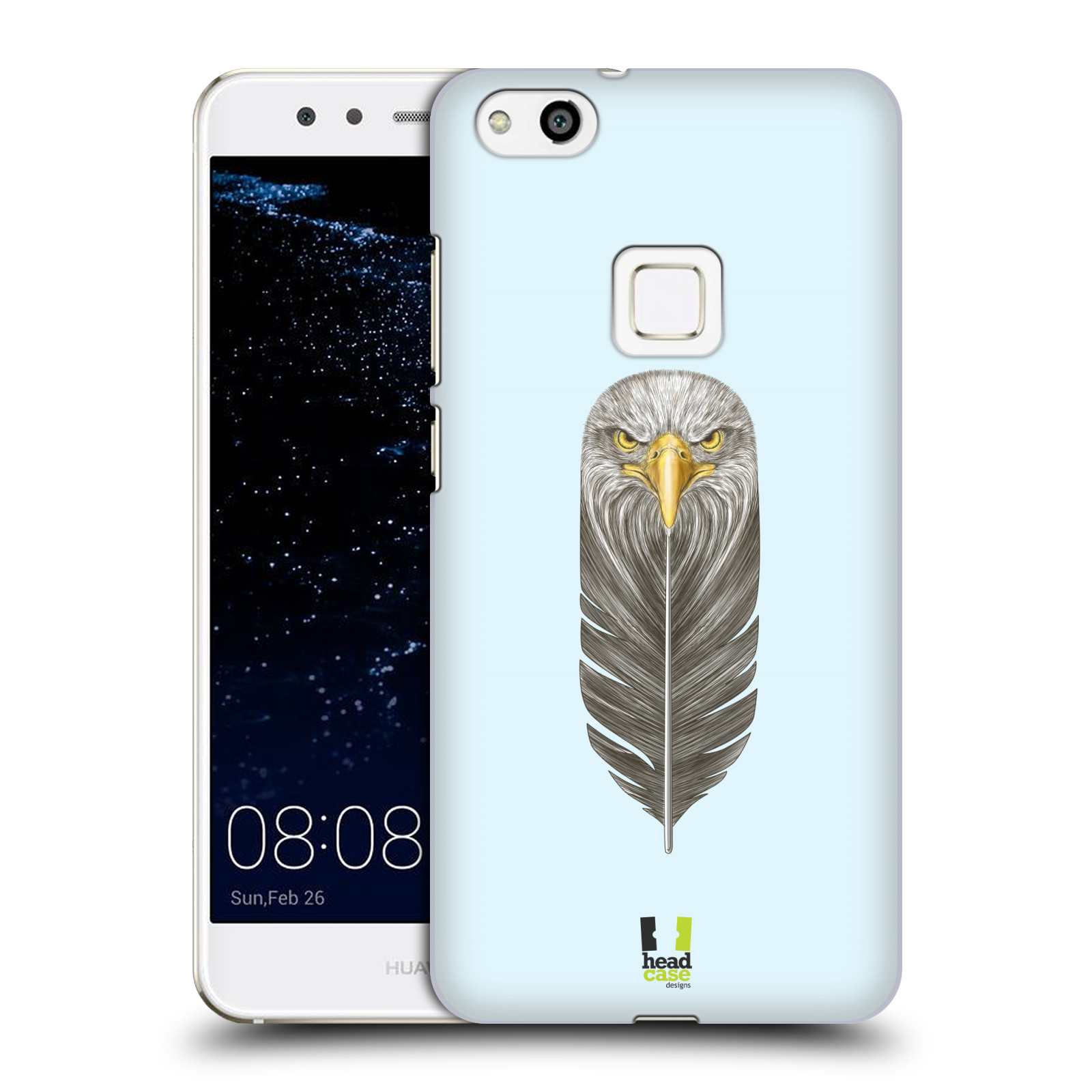 Plastové pouzdro na mobil Huawei P10 Lite Head Case - PÍRKO OREL (Plastový kryt či obal na mobilní telefon Huawei P10 Lite Dual SIM (LX1/LX1A))