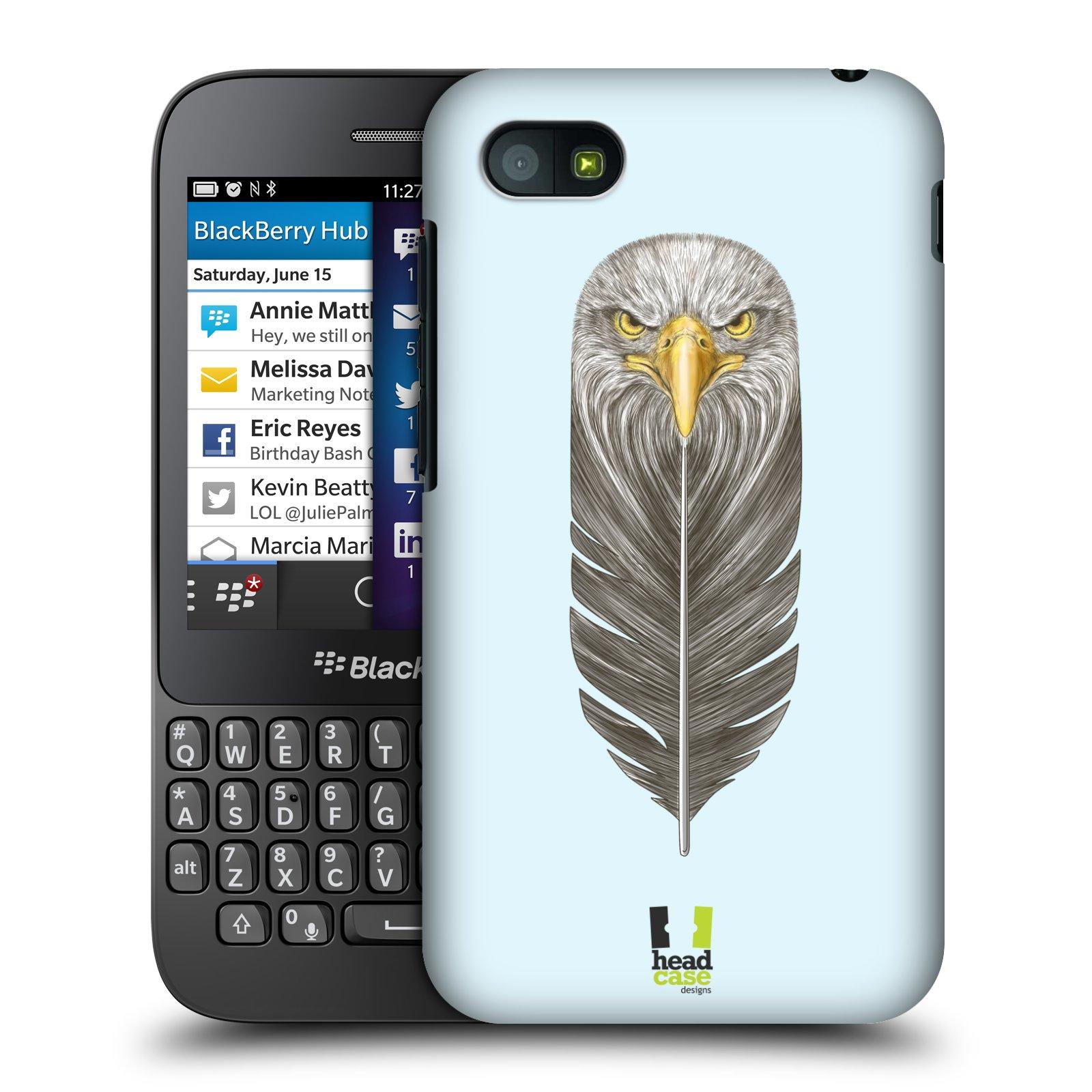 Plastové pouzdro na mobil Blackberry Q5 HEAD CASE PÍRKO OREL (Kryt či obal na mobilní telefon Blackberry Q5)