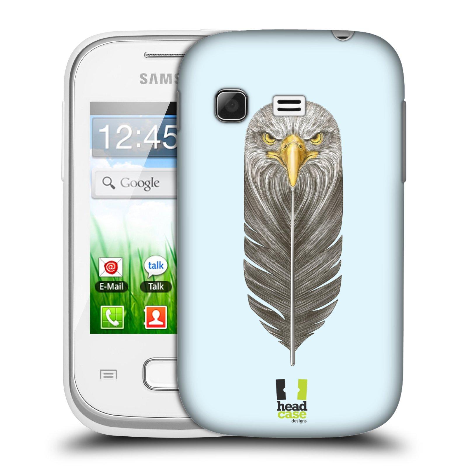 Plastové pouzdro na mobil Samsung Galaxy Pocket HEAD CASE PÍRKO OREL (Kryt či obal na mobilní telefon Samsung Galaxy Pocket GT-S5300)