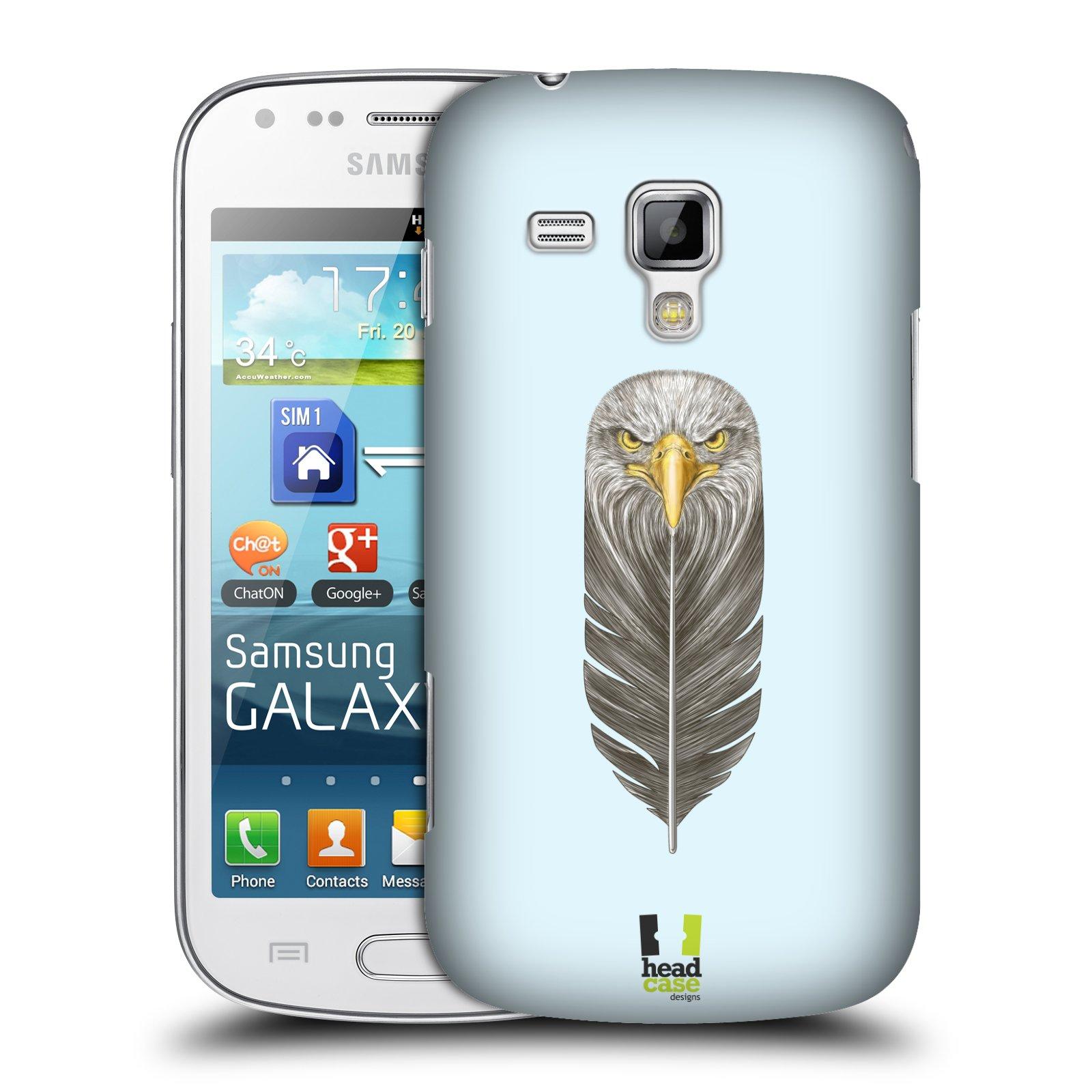 Plastové pouzdro na mobil Samsung Galaxy S Duos HEAD CASE PÍRKO OREL (Kryt či obal na mobilní telefon Samsung Galaxy S Duos GT-S7562)