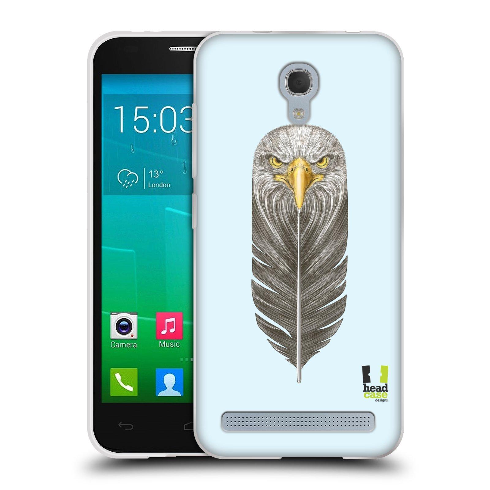 Silikonové pouzdro na mobil Alcatel One Touch Idol 2 Mini S 6036Y HEAD CASE PÍRKO OREL (Silikonový kryt či obal na mobilní telefon Alcatel Idol 2 Mini S OT-6036Y)