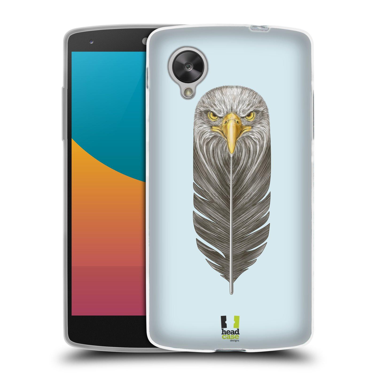 Silikonové pouzdro na mobil LG Nexus 5 HEAD CASE PÍRKO OREL (Silikonový kryt či obal na mobilní telefon LG Google Nexus 5 D821)