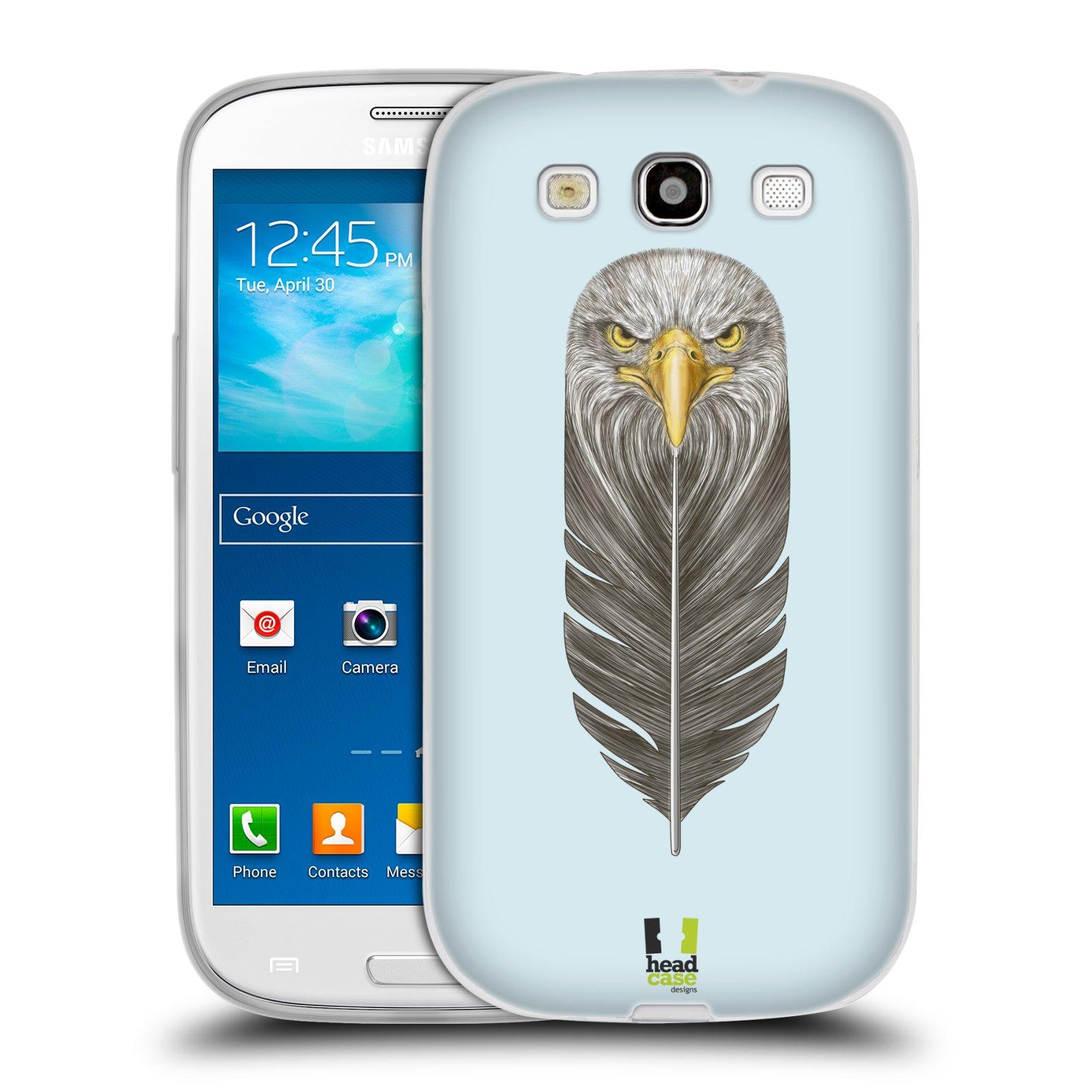 Silikonové pouzdro na mobil Samsung Galaxy S III HEAD CASE PÍRKO OREL (Silikonový kryt či obal na mobilní telefon Samsung Galaxy S III GT-i9300)