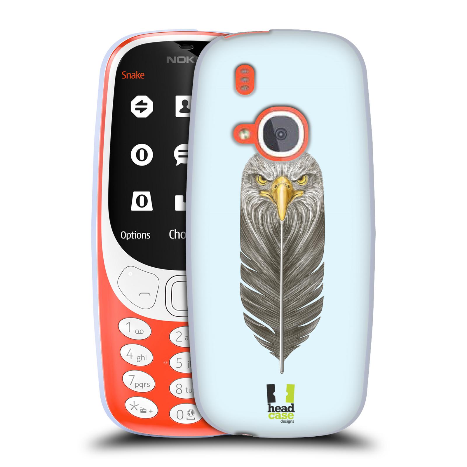 Silikonové pouzdro na mobil Nokia 3310 - Head Case - PÍRKO OREL (Silikonový kryt či obal na mobilní telefon Nokia 3310 (2017) s motivem PÍRKO OREL)