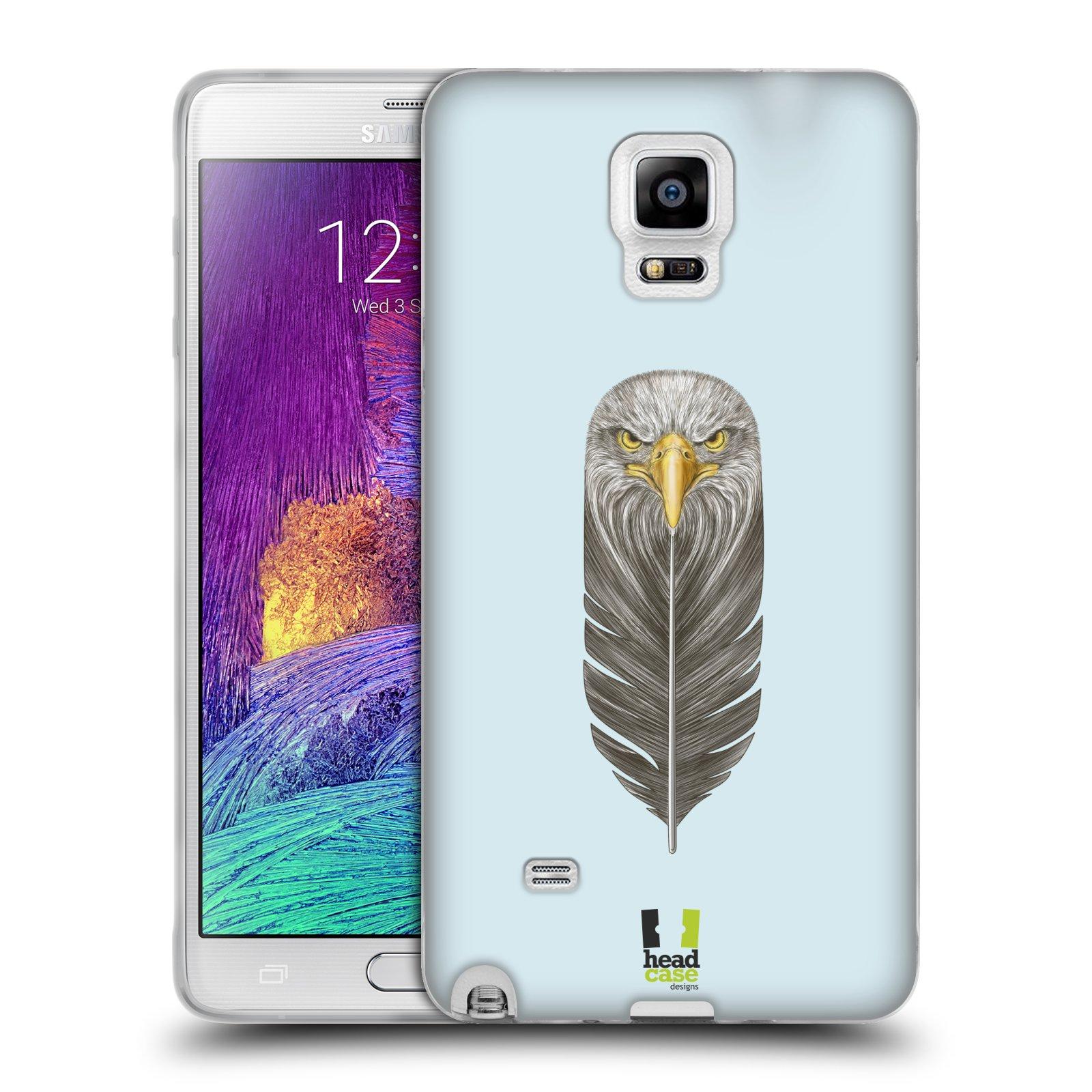 Silikonové pouzdro na mobil Samsung Galaxy Note 4 HEAD CASE PÍRKO OREL (Silikonový kryt či obal na mobilní telefon Samsung Galaxy Note 4 SM-N910F)