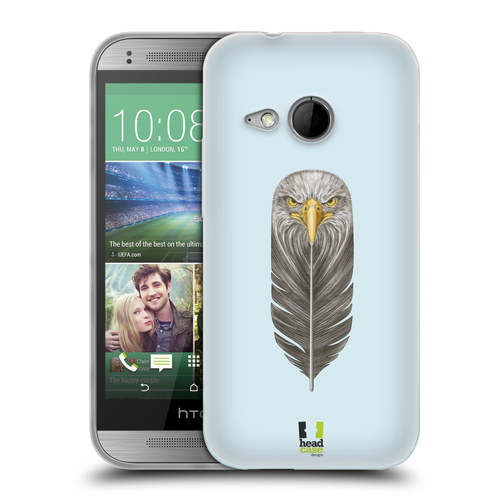 Silikonové pouzdro na mobil HTC ONE Mini 2 HEAD CASE PÍRKO OREL (Silikonový kryt či obal na mobilní telefon HTC ONE Mini 2)